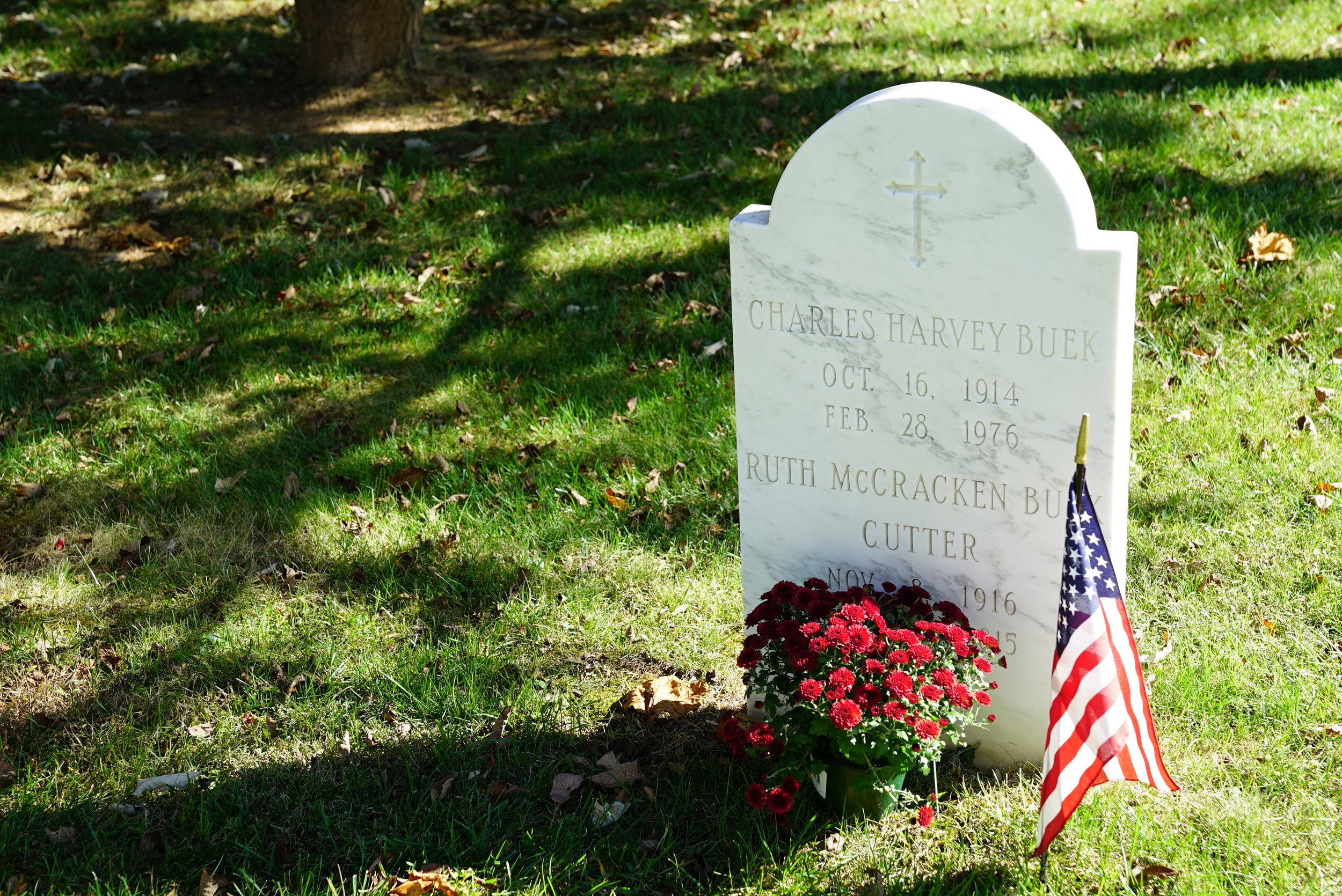 Gravestone at St. Christopher's Church Cemetery. Gladwyne, Pennsylvania.