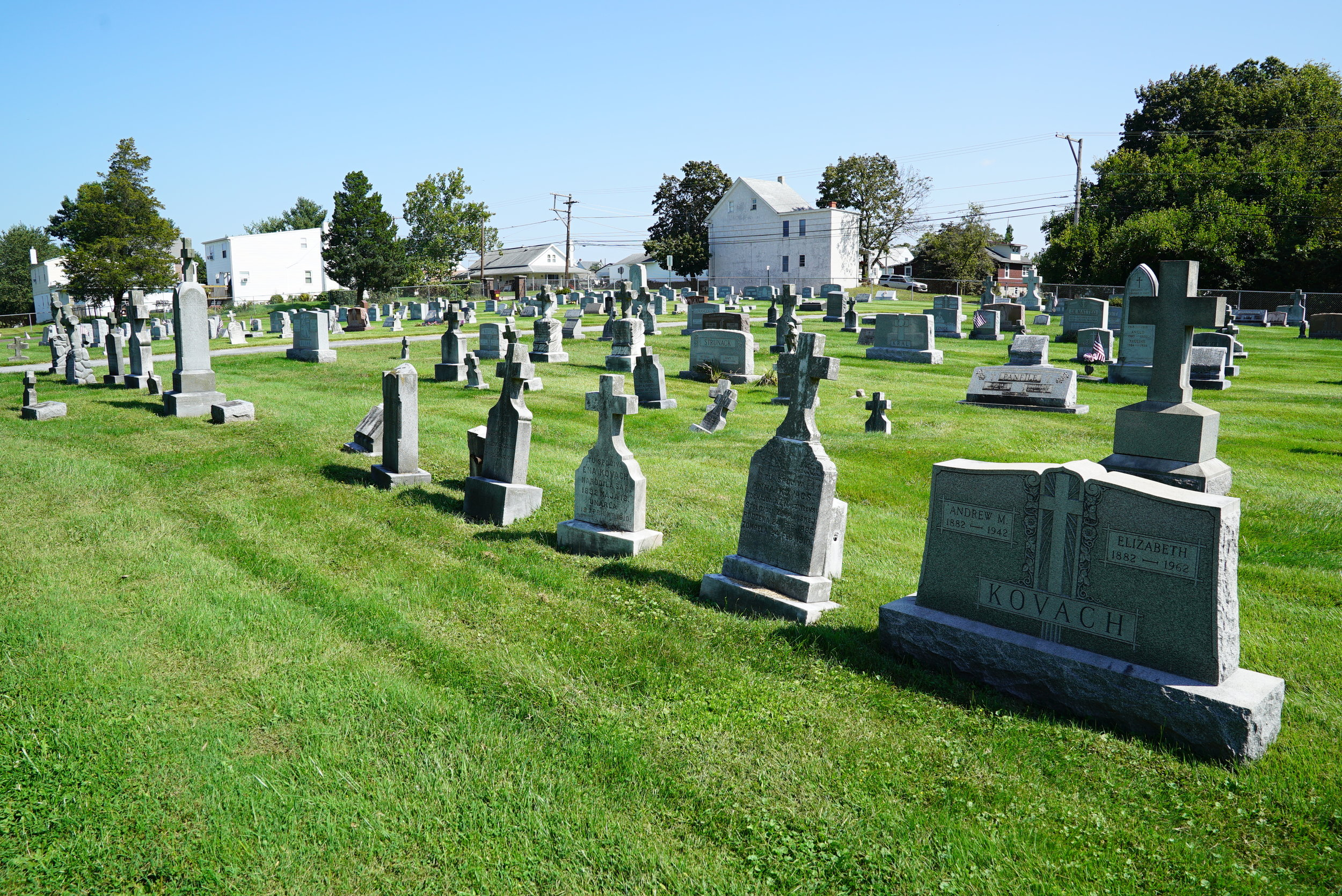 Holy Trinity Cemetery. Stowe, Pennsylvania. Operated by Saint Aloysius Catholic Parish.