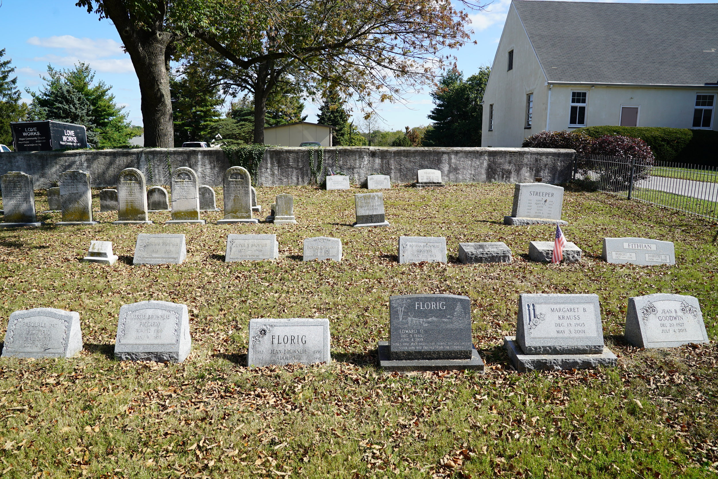 Union Chapel Graveyard. King Of Prussia, Pennsylvania.