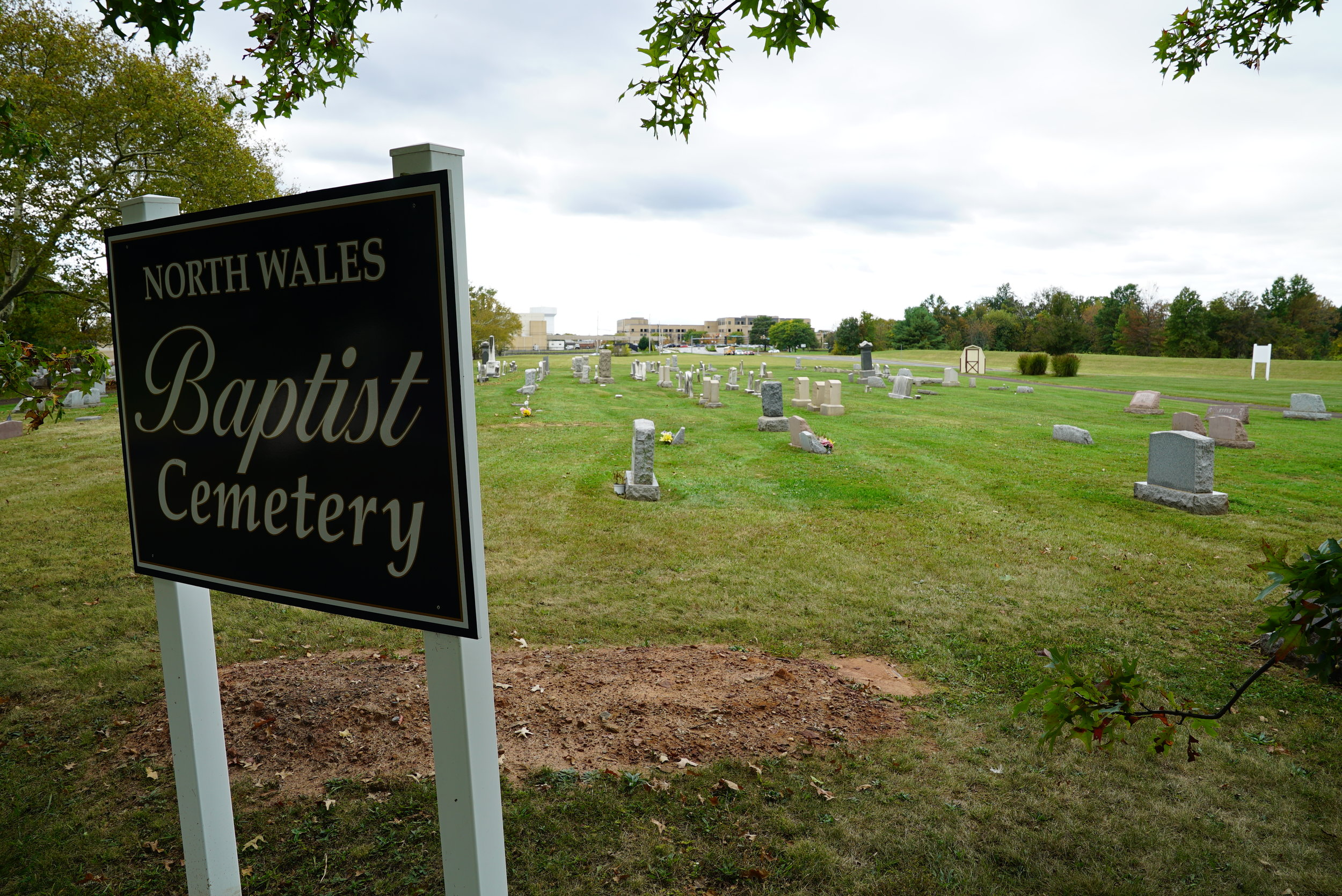 A recent burial. North Wales Baptist Cemetery. Lansdale, Pennsylvania.