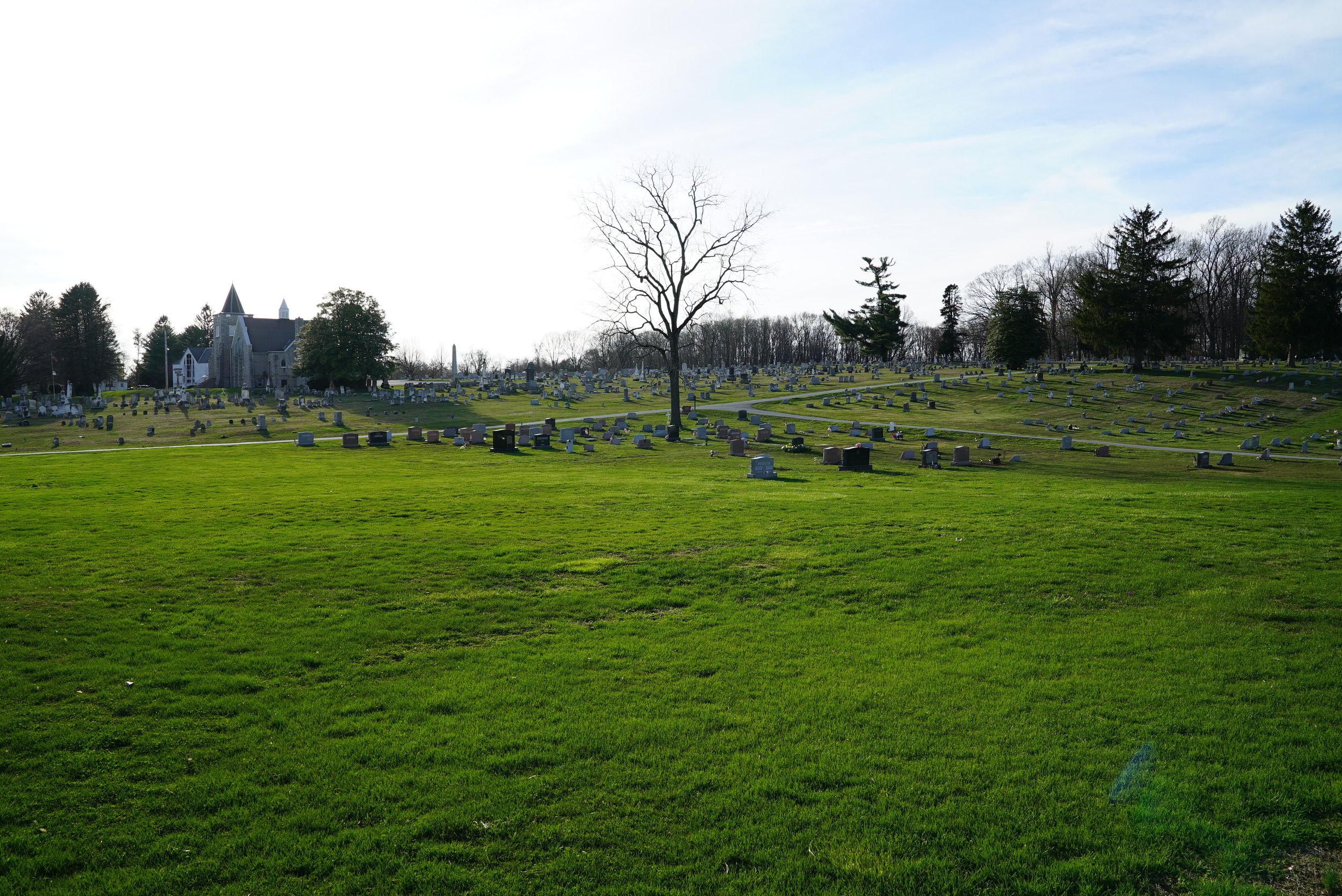 Plenty of burial space still left at Hephzibah Baptist Church Cemetery.