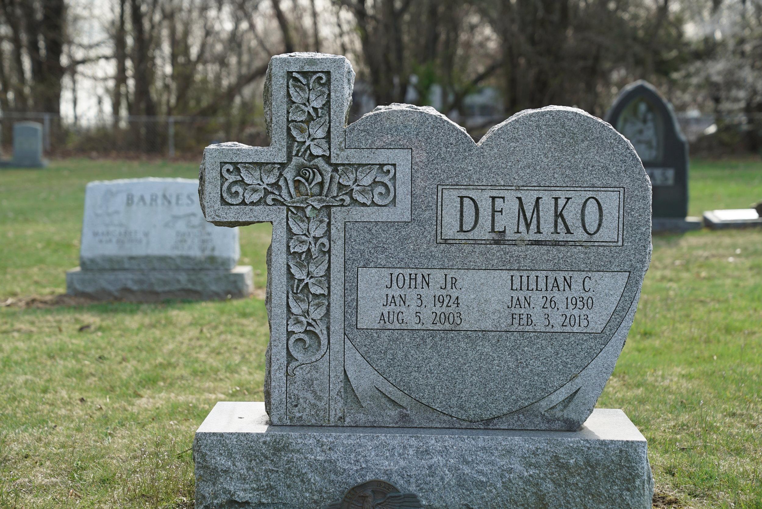 Tombstone at St. Nicholas Cemetery. Coatesville, Pennsylvania.