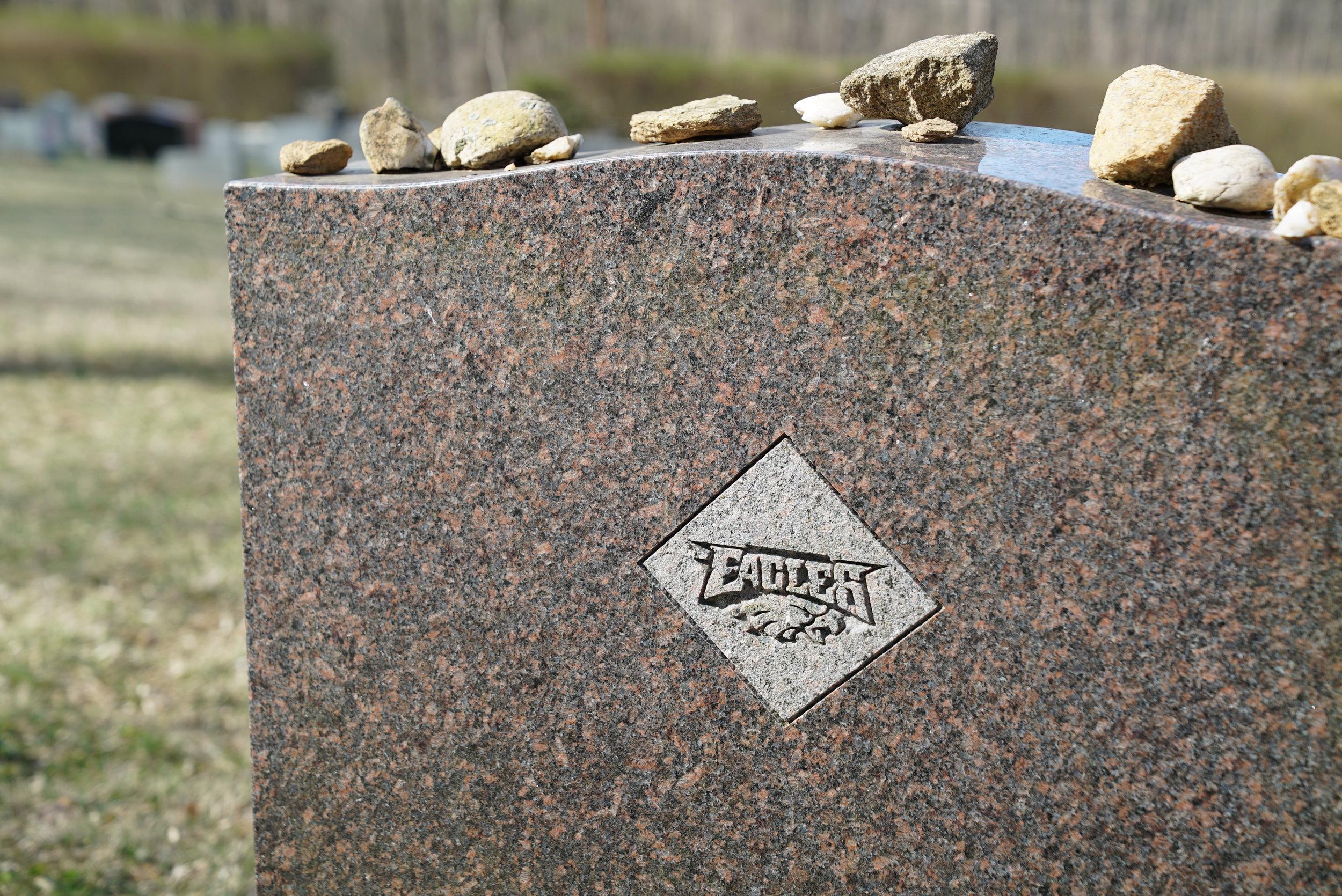 Somebody was a big Eagles fan. Beth Israel Cemetery. Coatesville, Pennsylvania area.