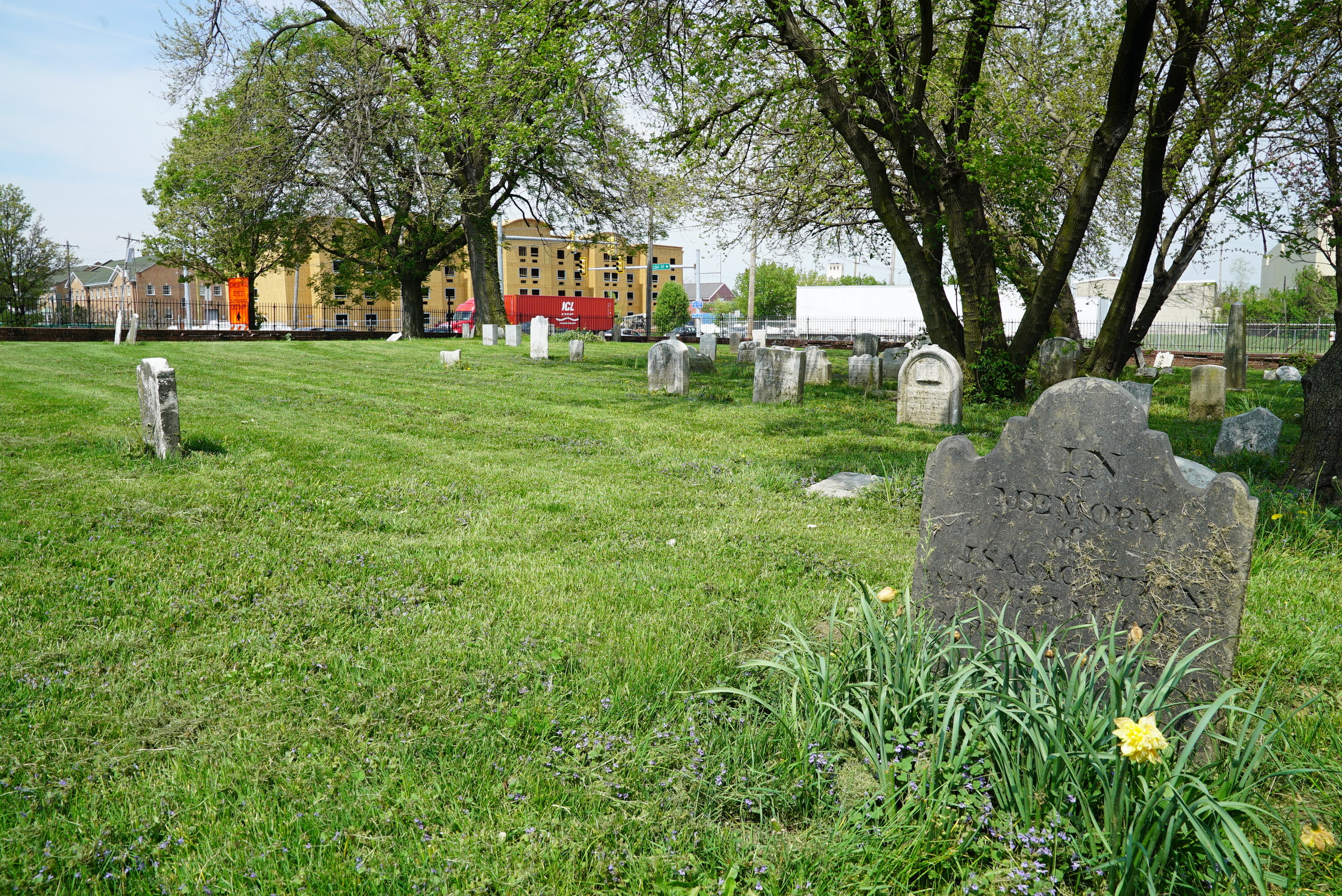 Old Swedish Burial Ground. Chester, Pennsylvania.