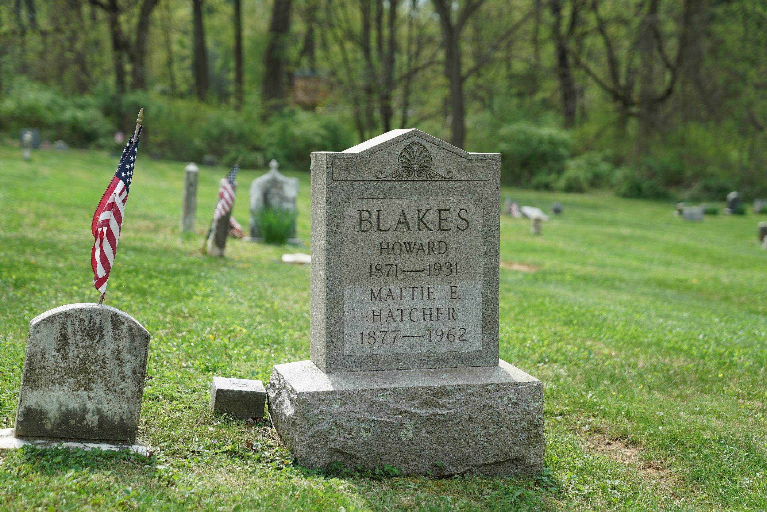 Tombstone at Thornbury African Methodist Episcopal Church Cemetery. Glen Mills, Pennsylvania area.