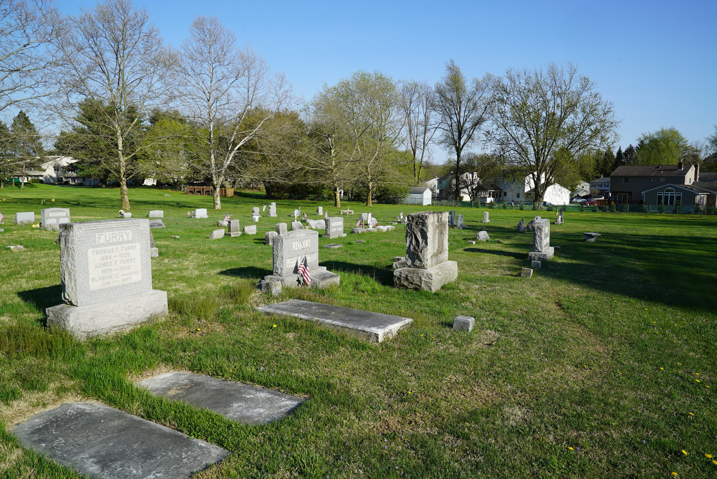 St. Paul's Lutheran Church Cemetery. Lionville, Pennsylvania.