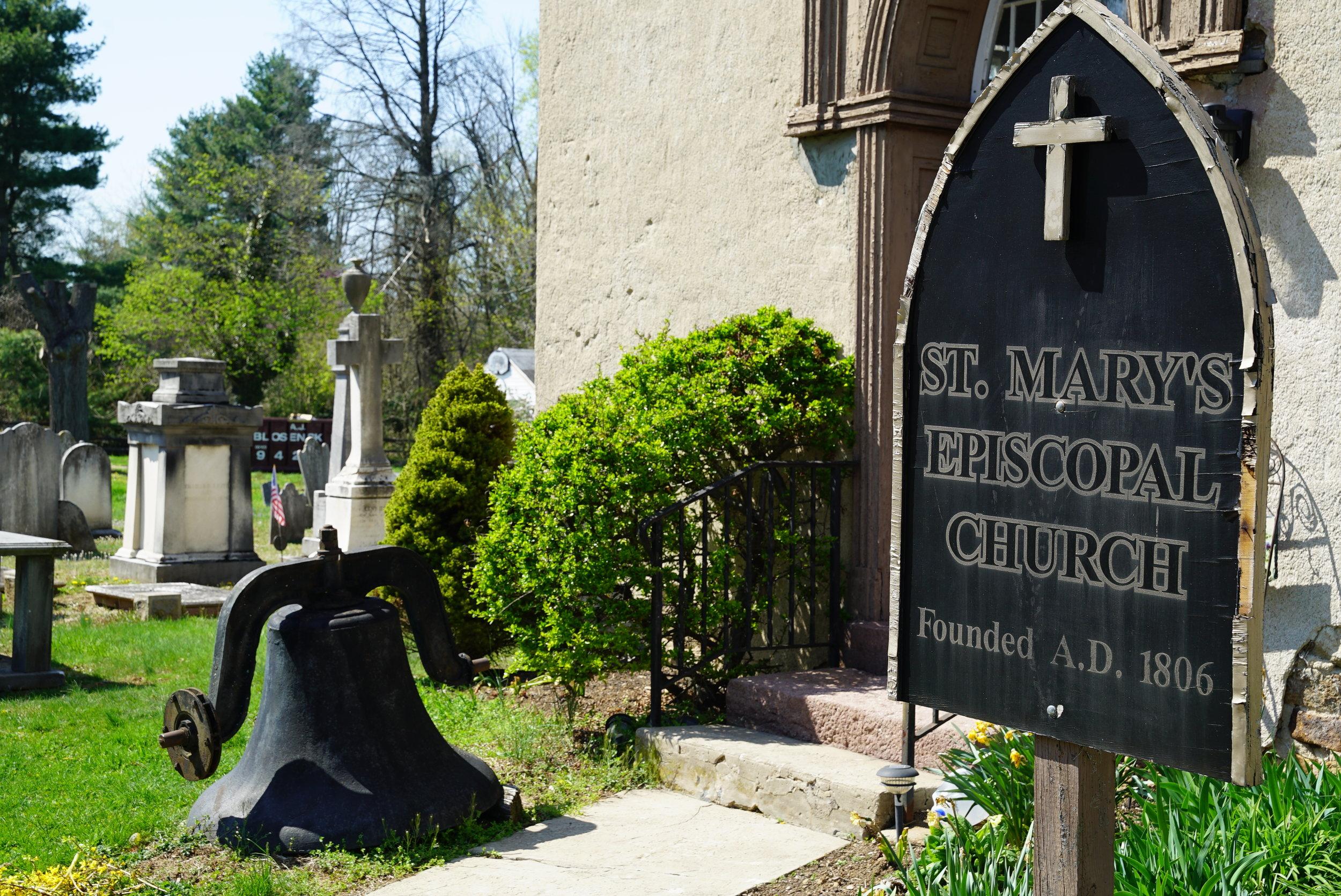 St. Mary's Episcopal Church Cemetery. Warwick Township, Pennsylvania.