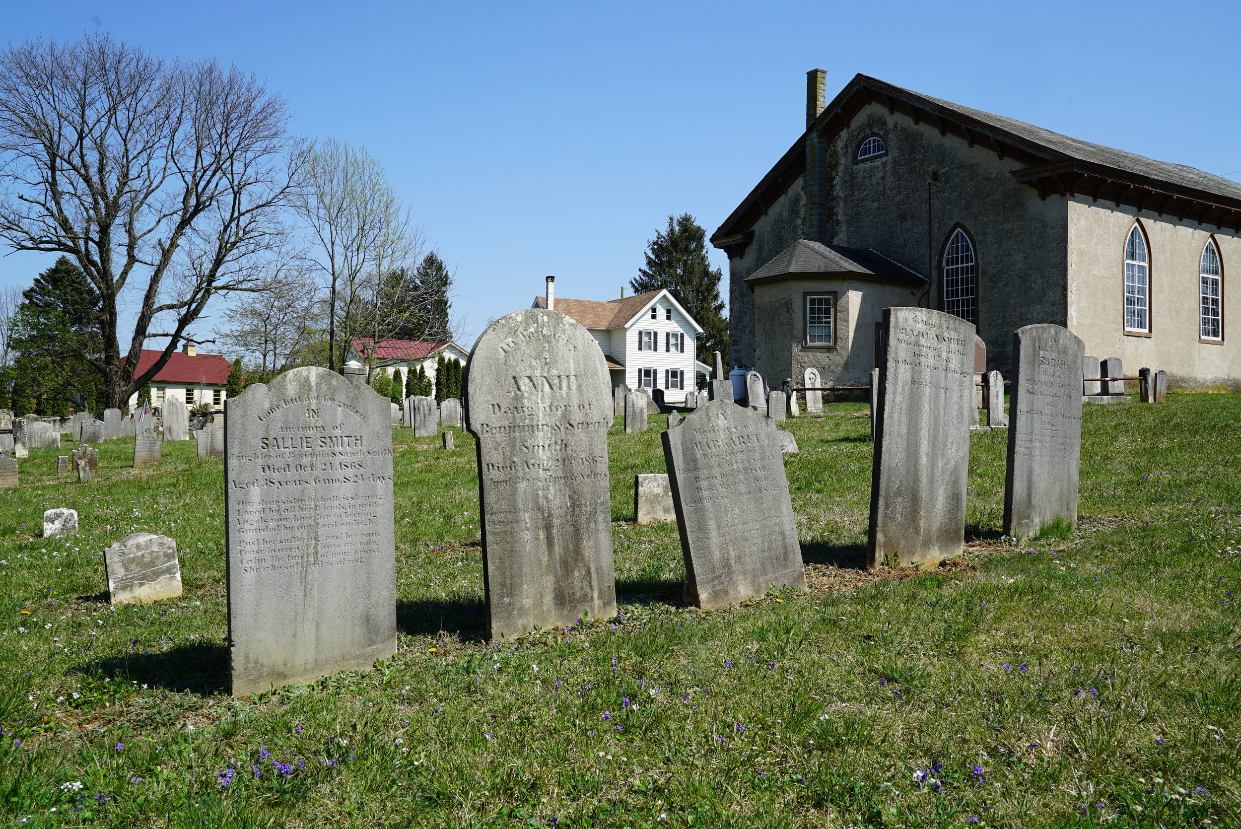 Old St. Mary's Episcopal Church Cemetery. Elverson area of Chester County.