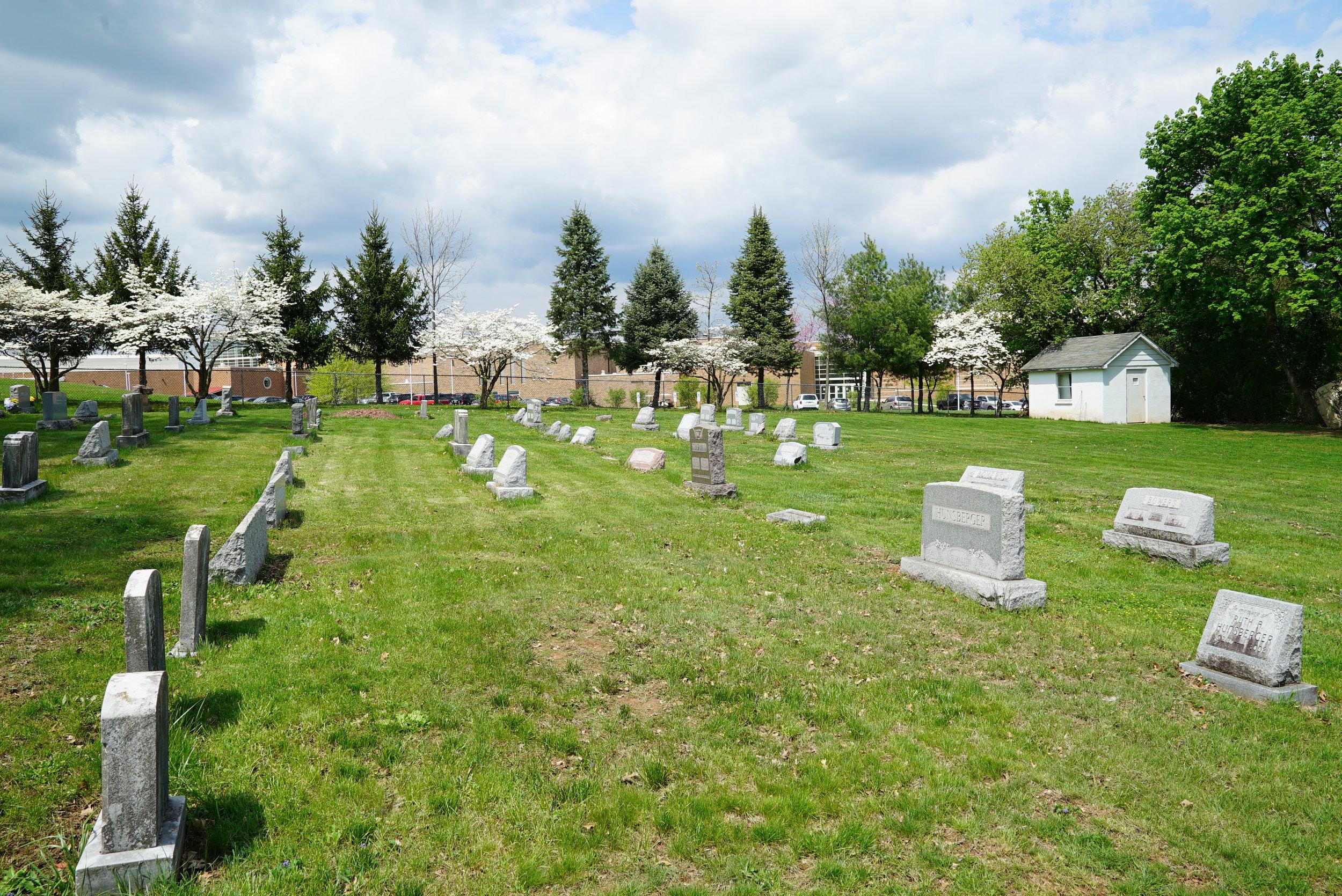 The cemetery at Romanian Baptist Church of the Greater Philadelphia area. Collegeville, Pennsylvania area.