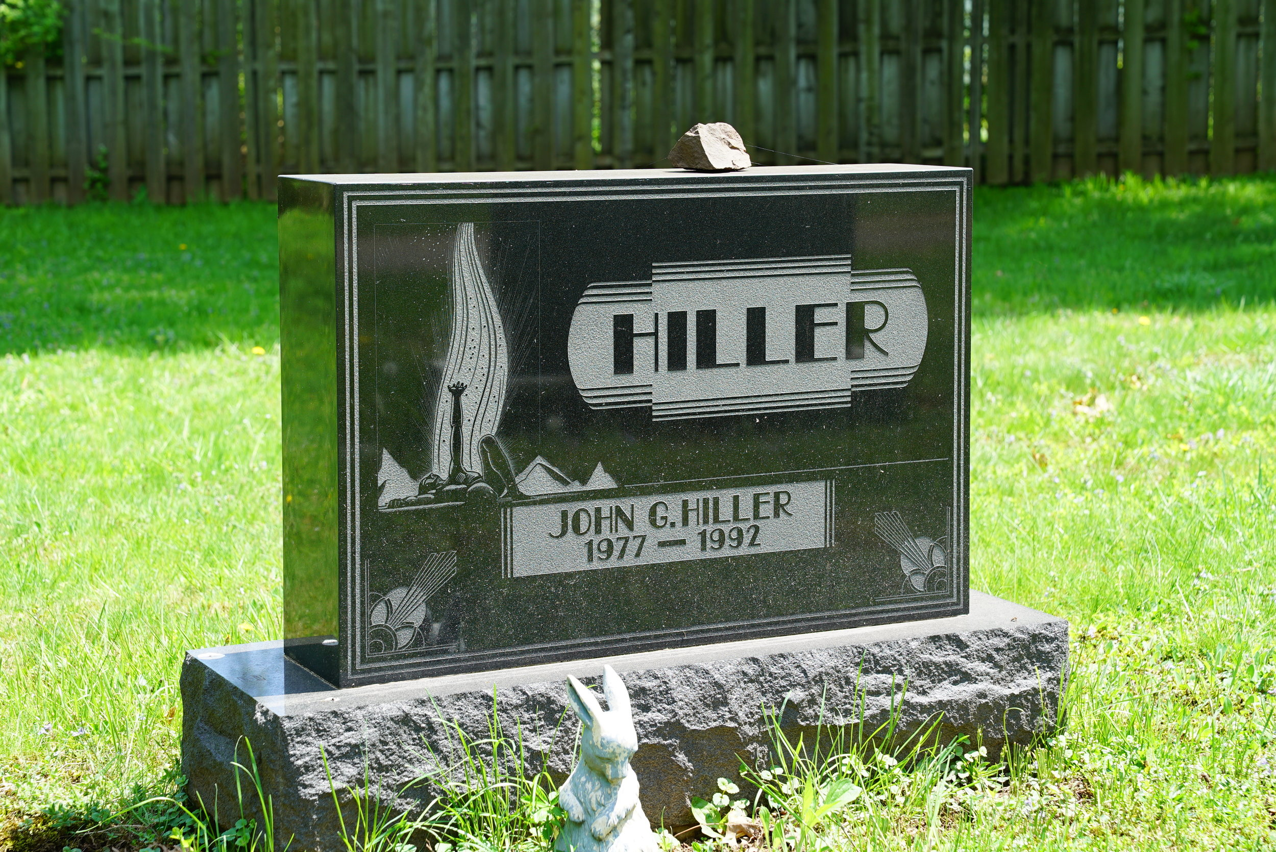 A most unusual font on this tombstone. St. James Cemetery. Collegeville, Pennsylvania.