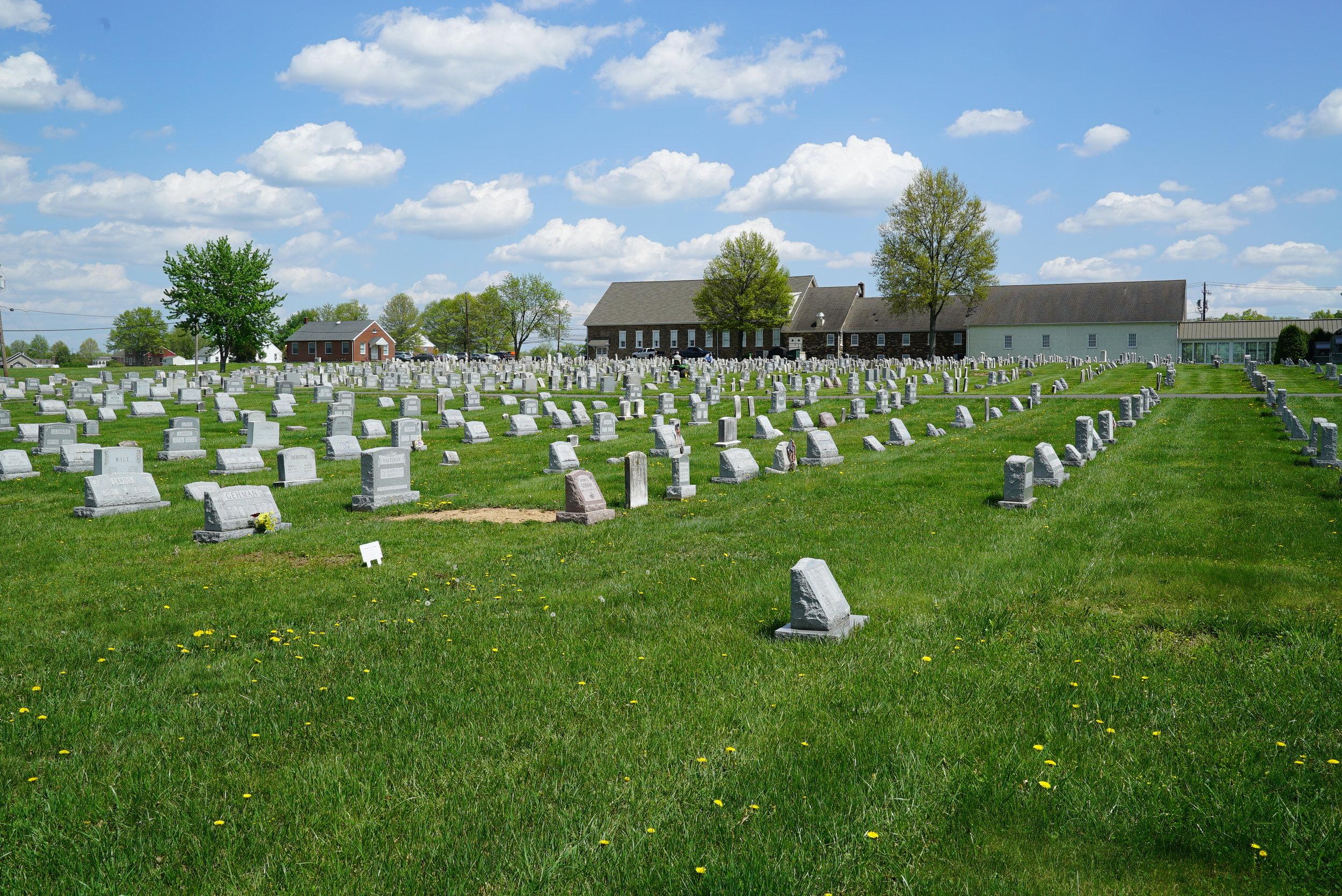 Franconia Mennonite Church Cemetery. Telfor, Pennsylvania.