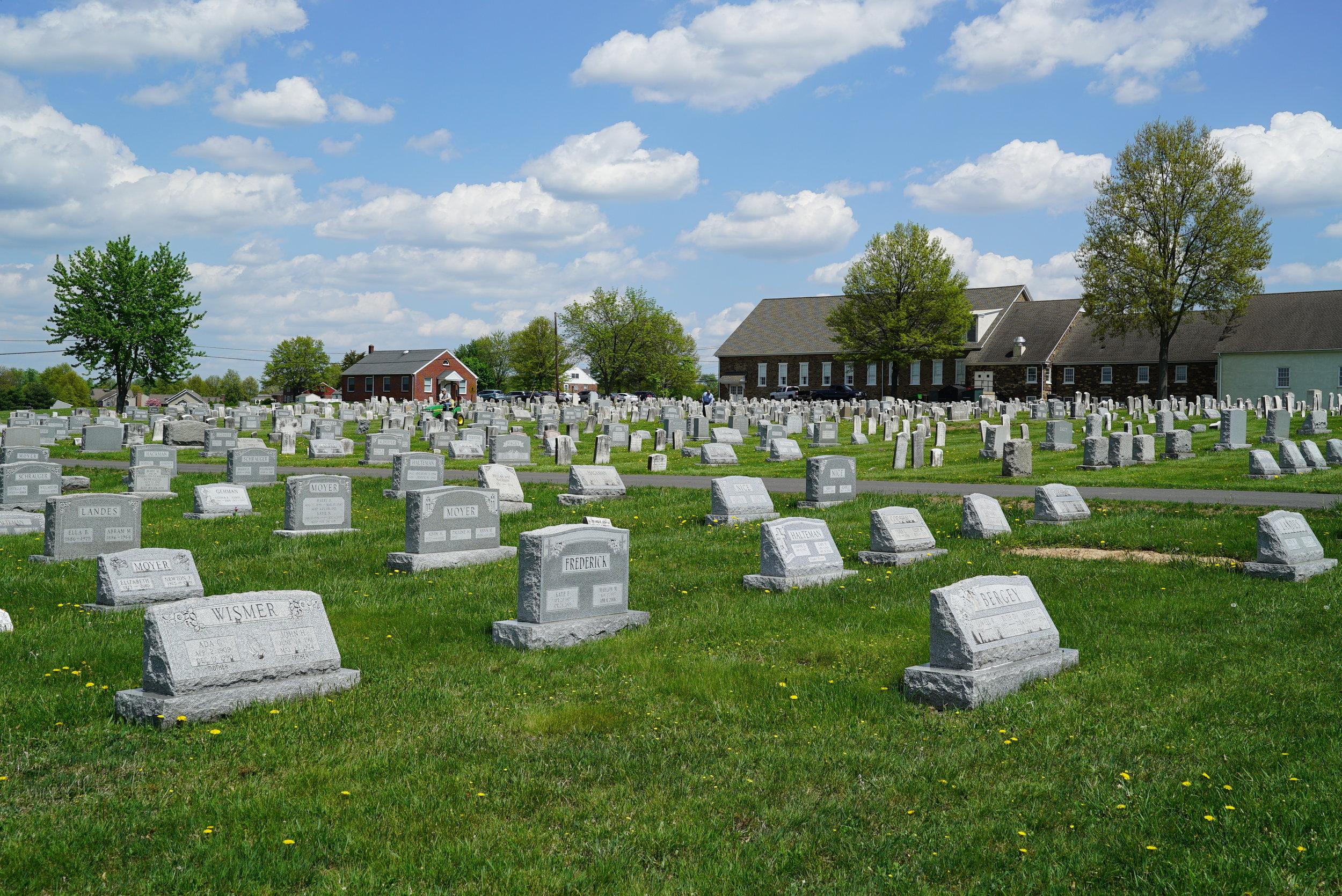 Franconia Mennonite Church Cemetery. Telford, Pennsylvania.