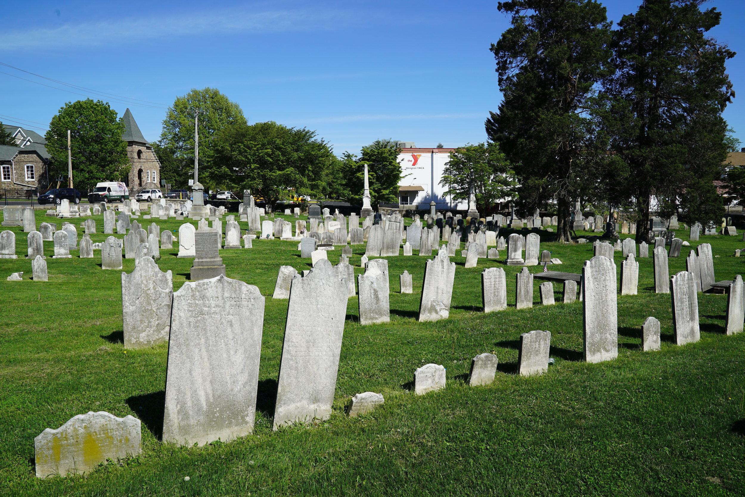Abington Presbyterian Church Cemetery. Montgomery County, Pennsylvania.