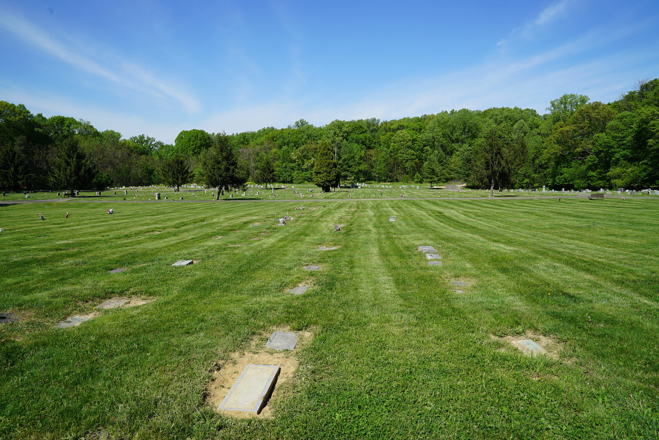 Flat marker section. Fairview Cemetery. Willow Grove, Pennsylvania.