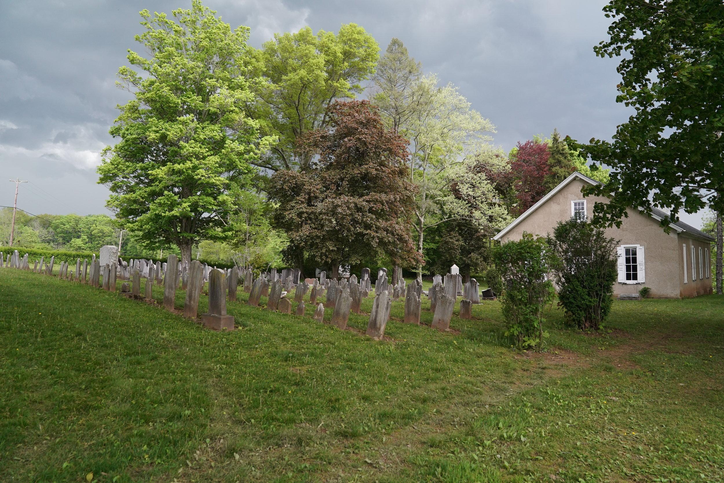 Hosensack Meeting House and Cemetery. Upper Hanover Township, Pennsylvania.