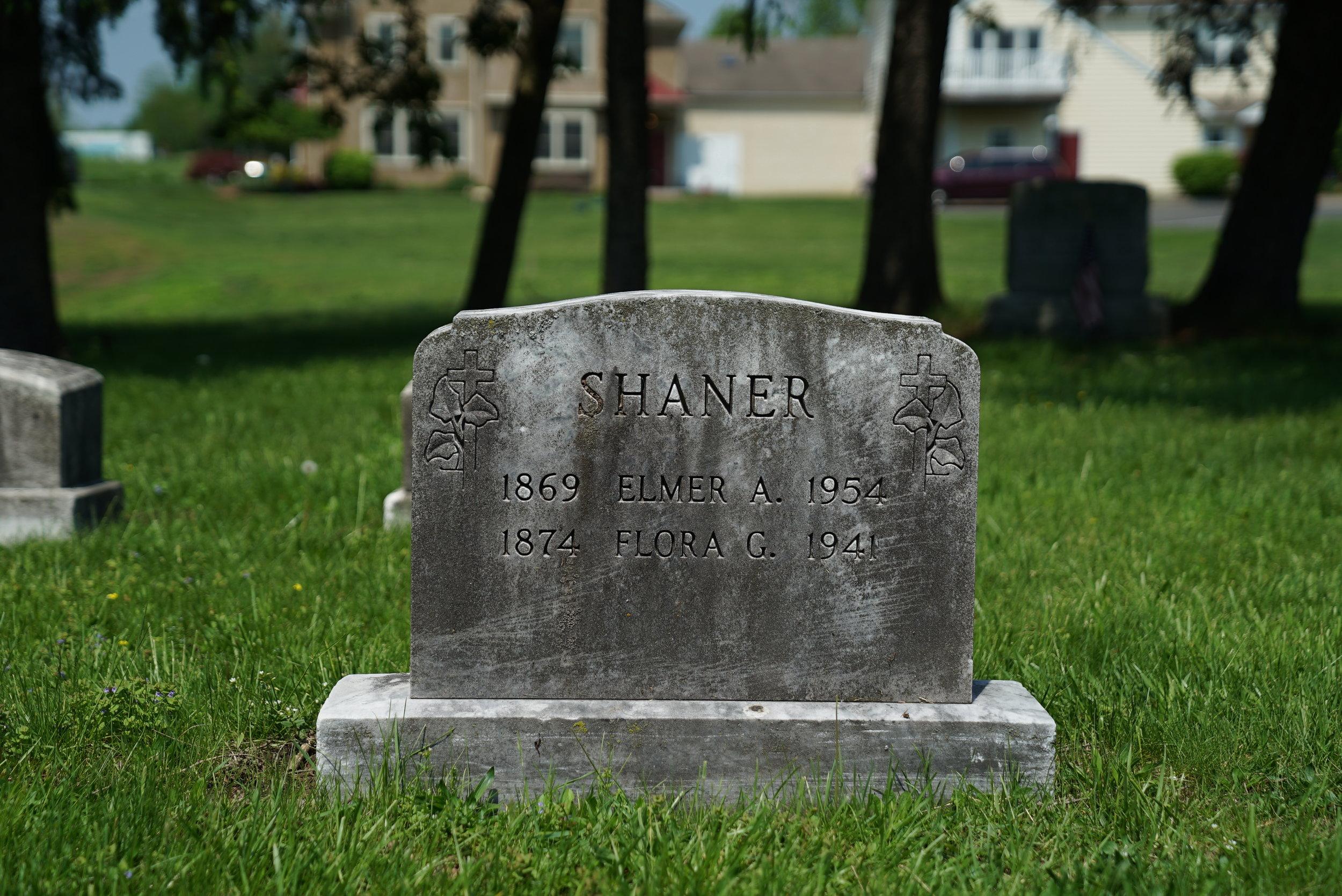Tombstone at Christ Evangelical Congregational Church Cemetery. Zieglerville, Pennsylvania.