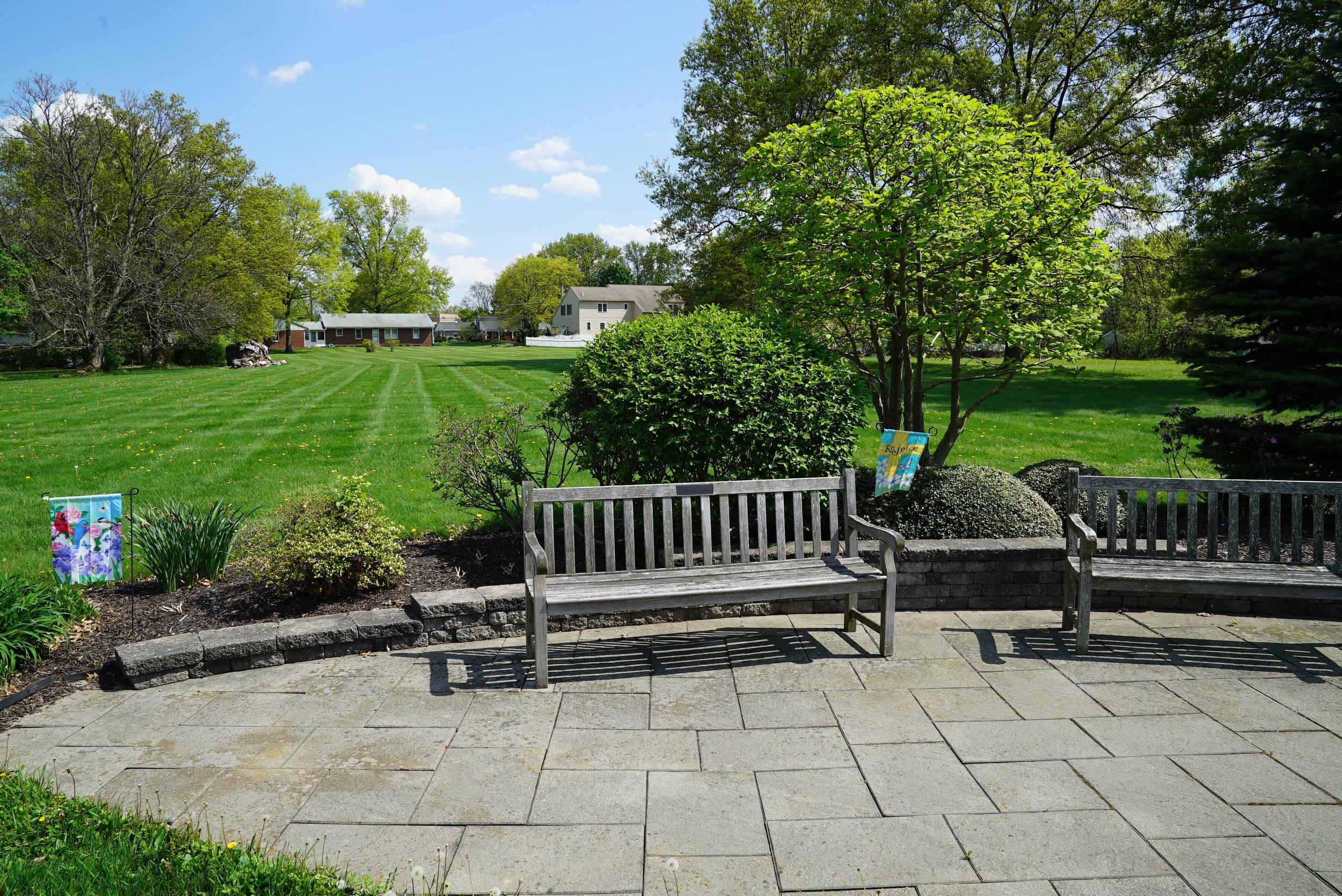 Resting area. St. Paul's Lutheran Church Cemetery- Telford, Pennsylvania.