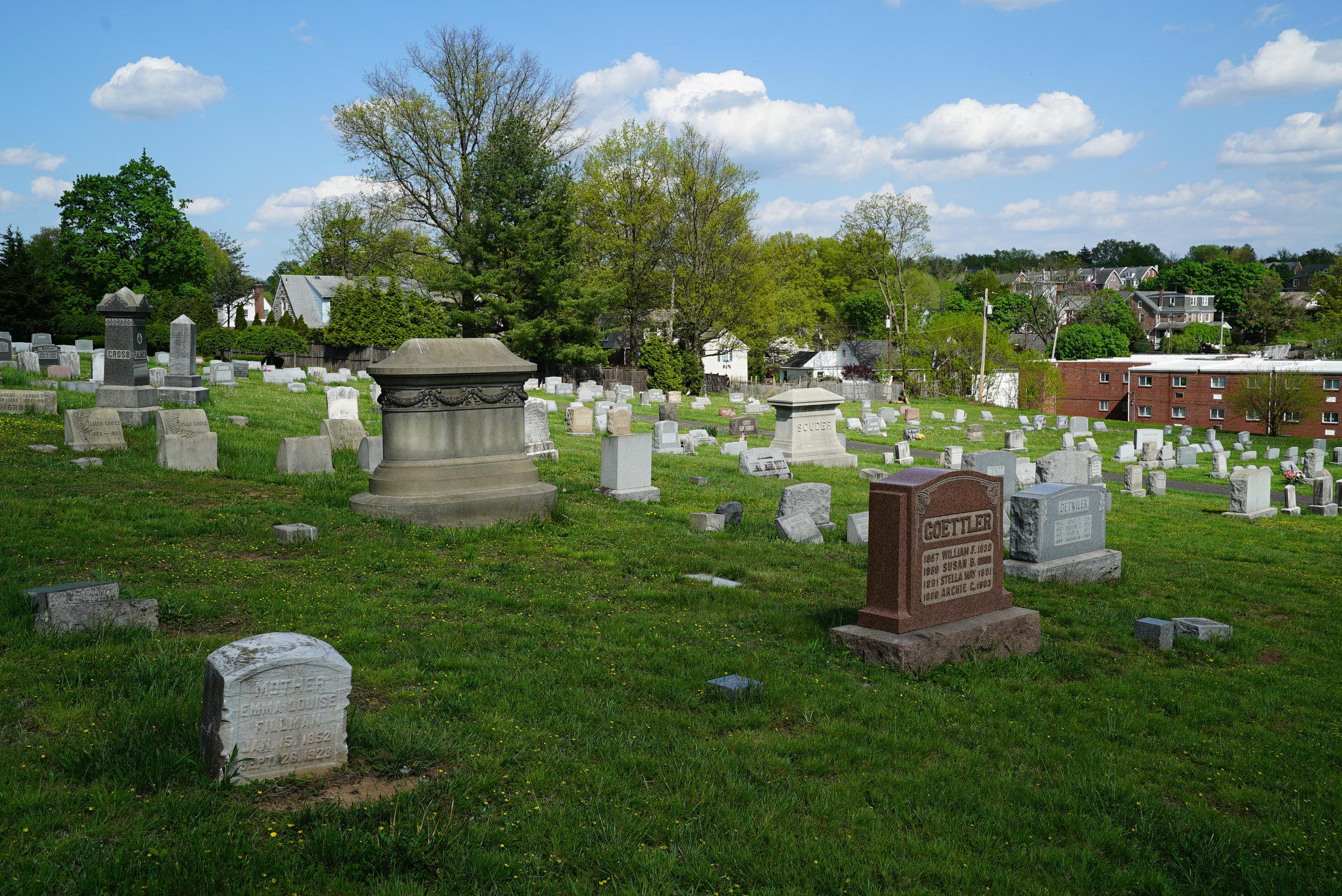 Hillside Cemetery of Souderton Pennsylvania - Montgomery County.