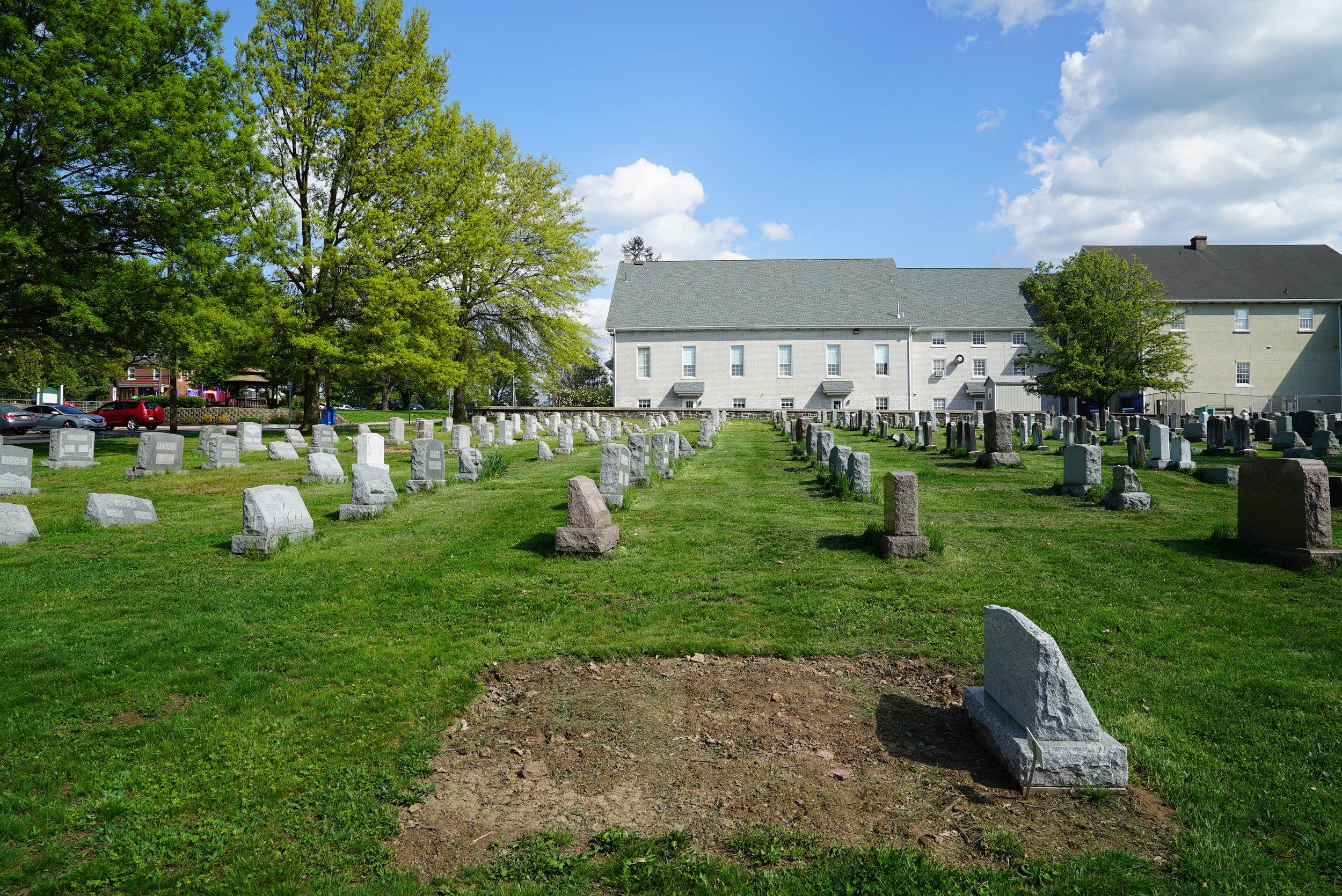 A recent burial. Souderton Mennonite Church Cemetery - Montgomery County, Pennsylvania.