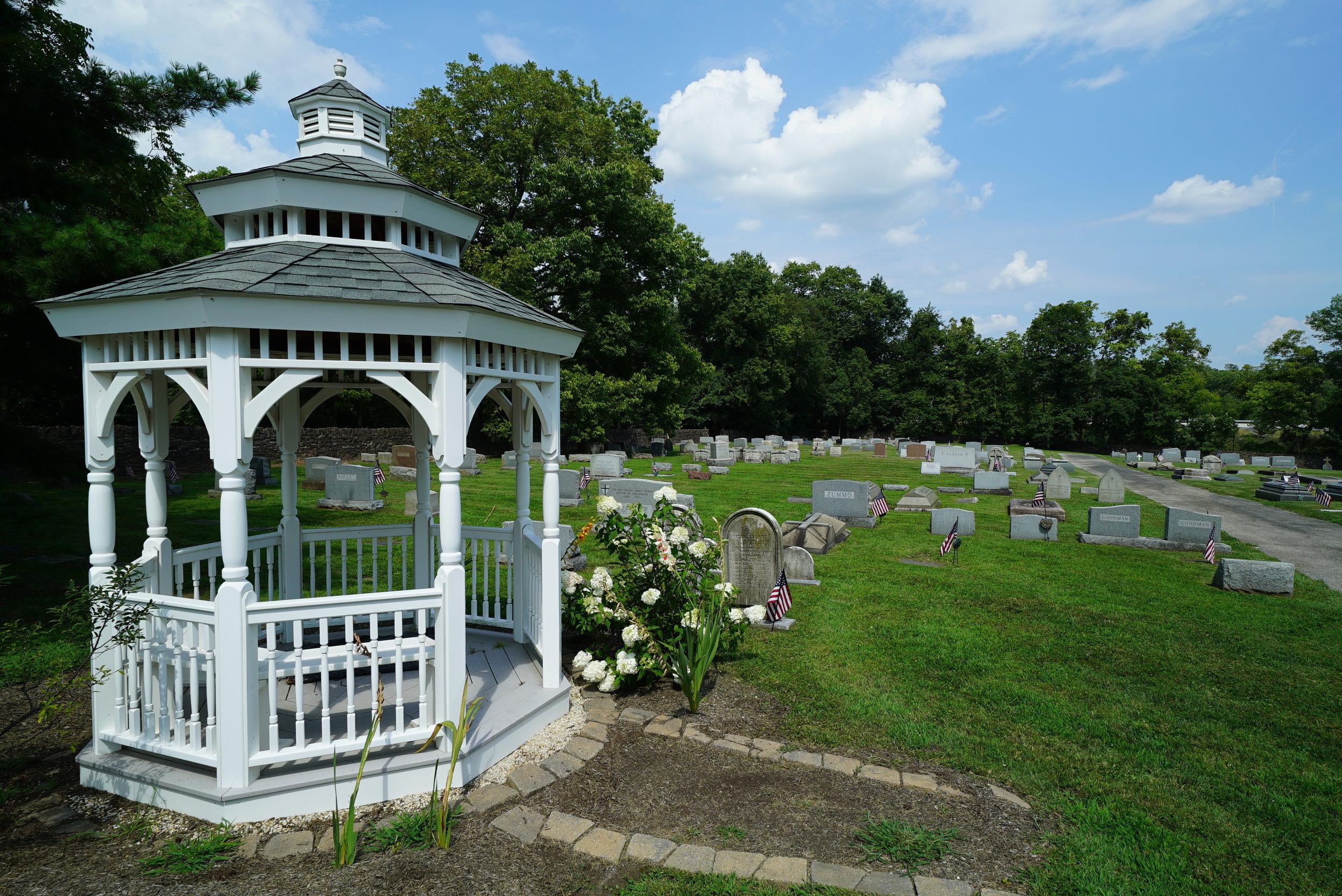 Behind the church. St. Paul's Episcopal Church Cemetery. Oaks, Pennsylvania.