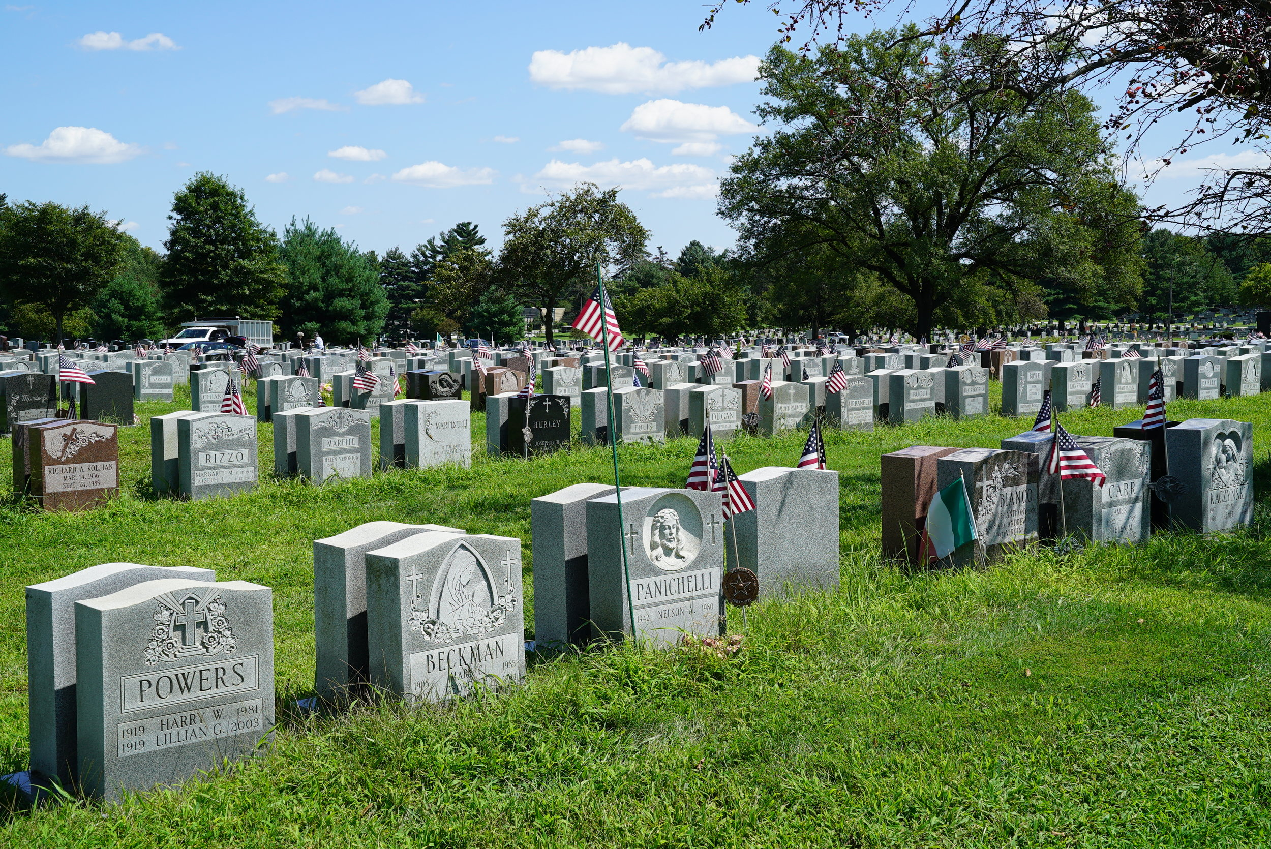 Saints Peter and Paul Cemetery - Springfield, Pennsylvania. August 23, 2018. The grounds maintenance standards have recently declined.