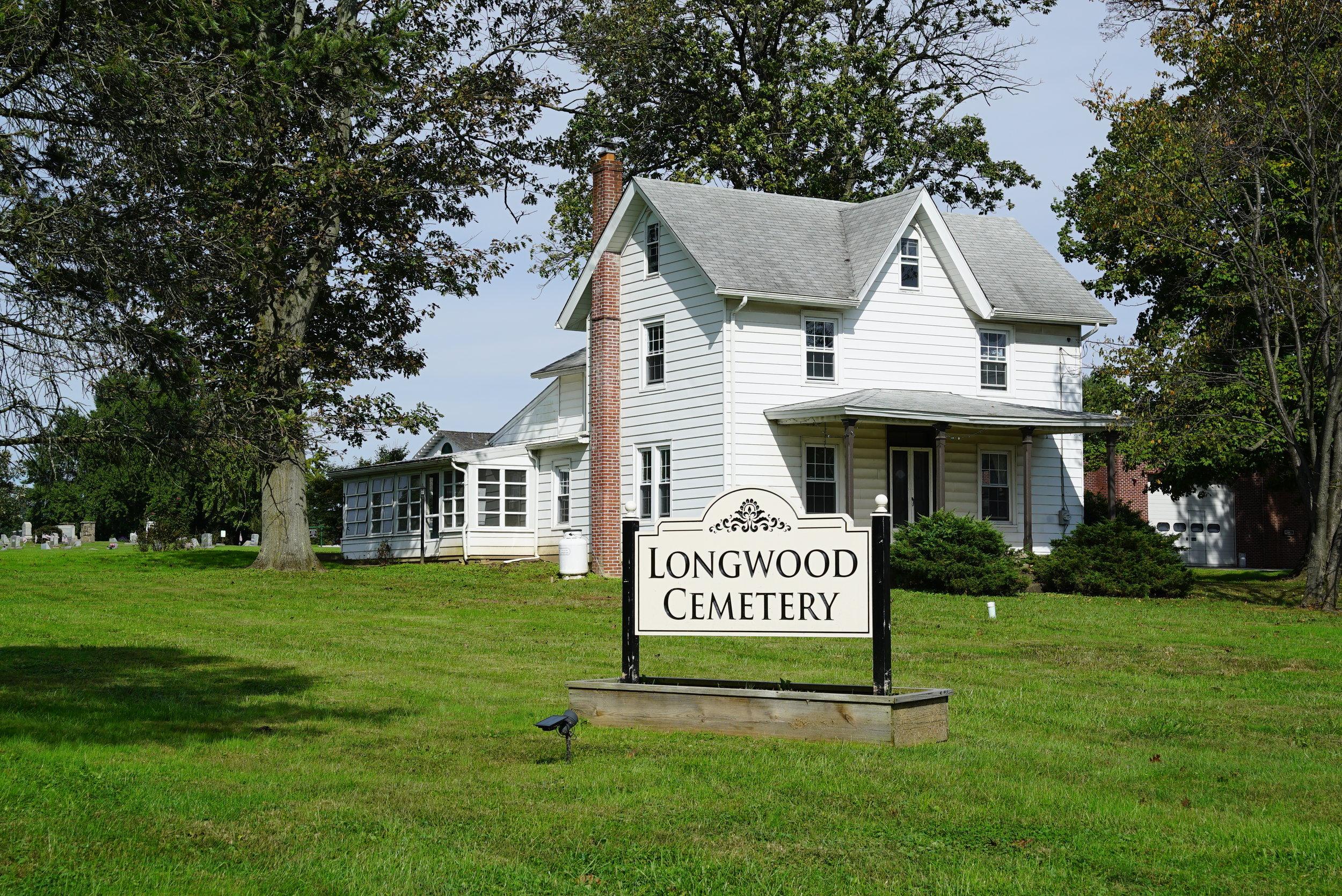 The caretaker's house. Longwood Cemetery.