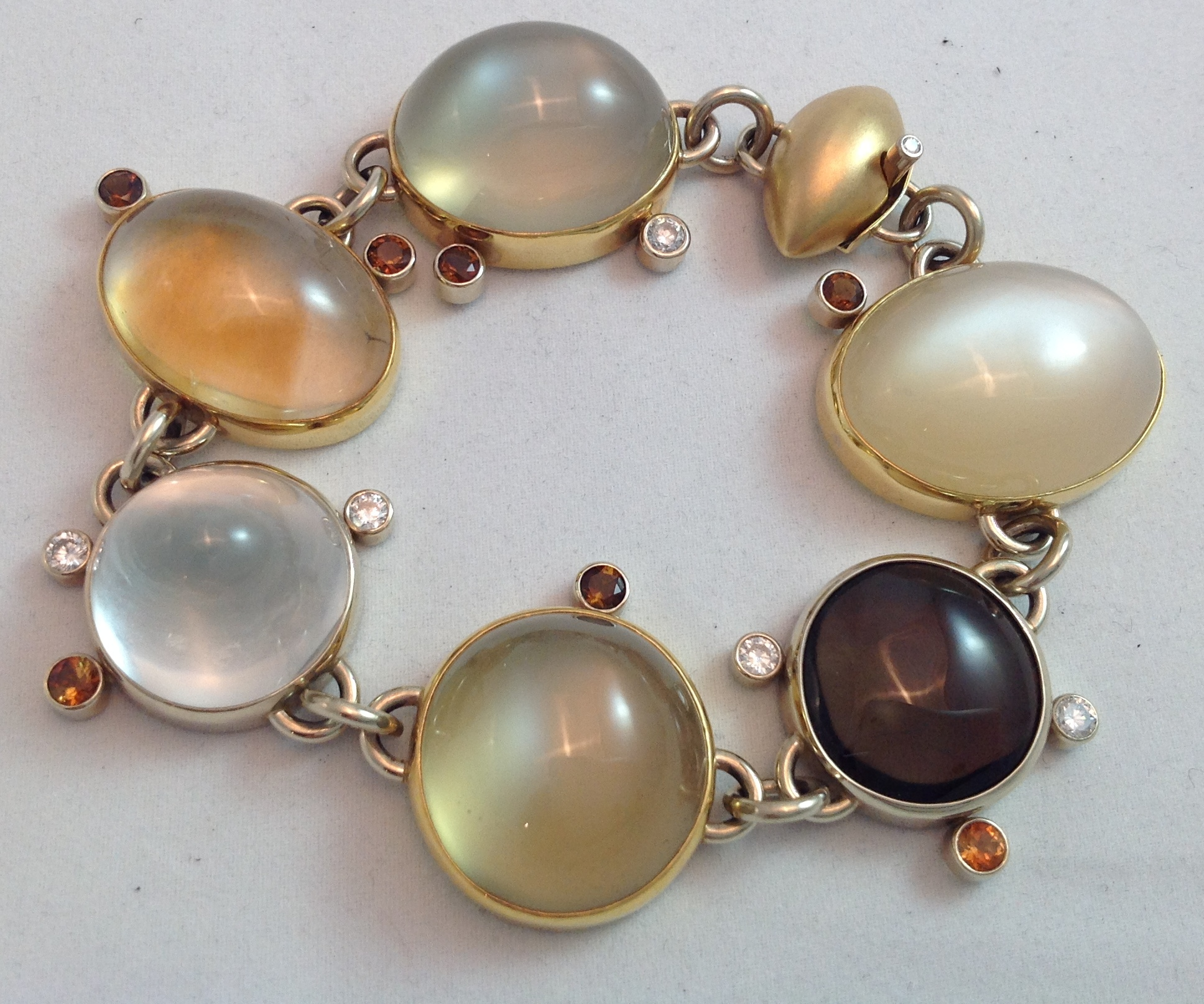 """Moonbeam"" 14kt yellow gold handmade bracelet"