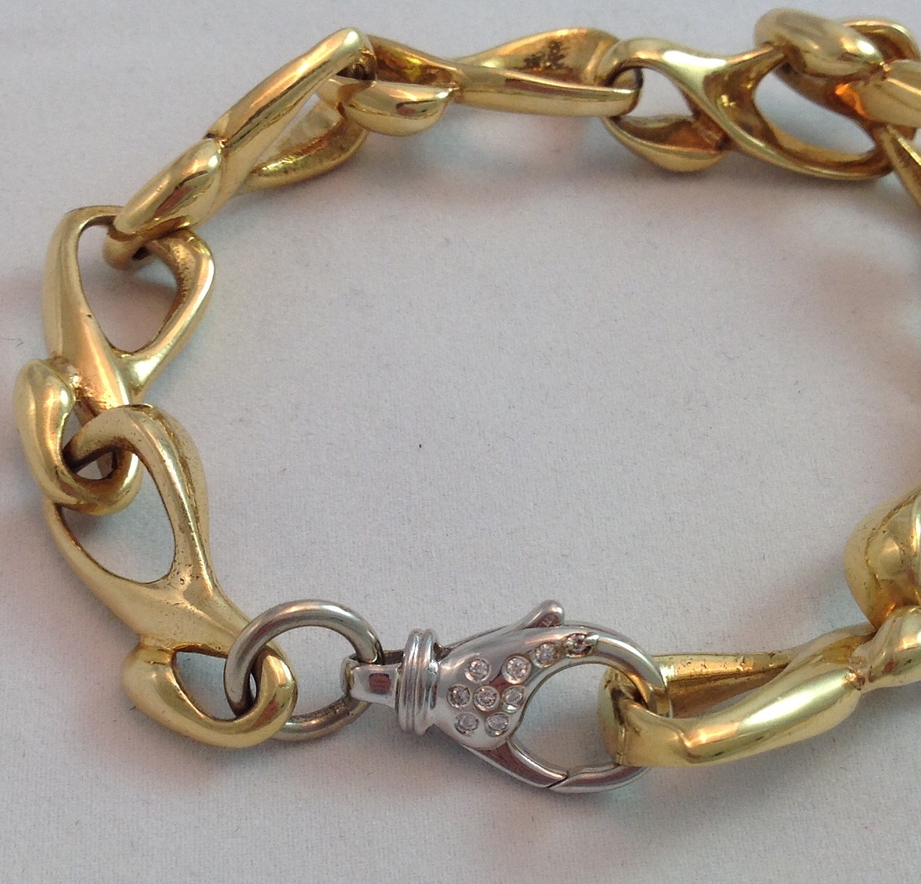 18kt One of a Kind Solid Link Bracelet