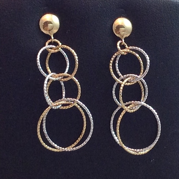 14kt yellow and white gold Dangle Earrings