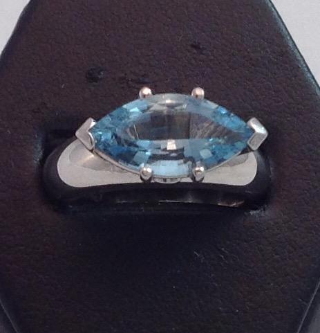 Marquise Aquamarine Ring