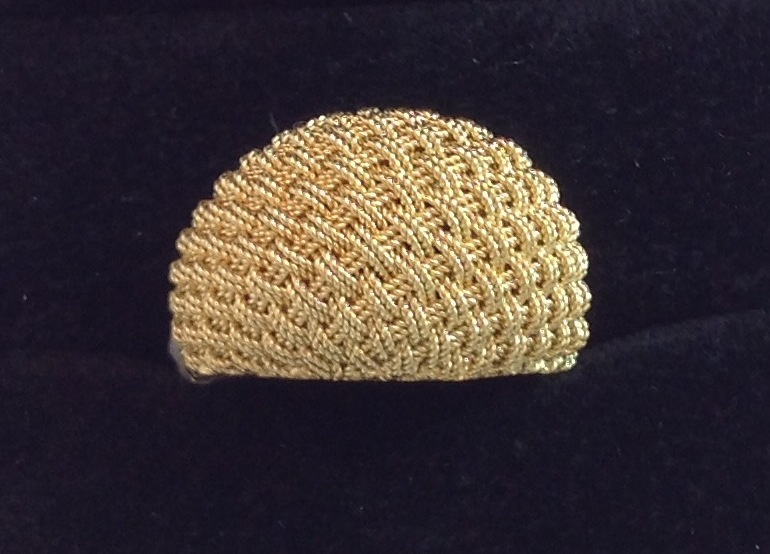 18kt Hand Woven Ring