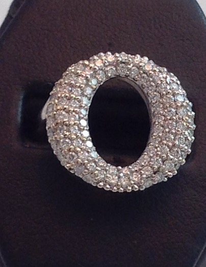 18kt White Gold Pave Diamond Ring