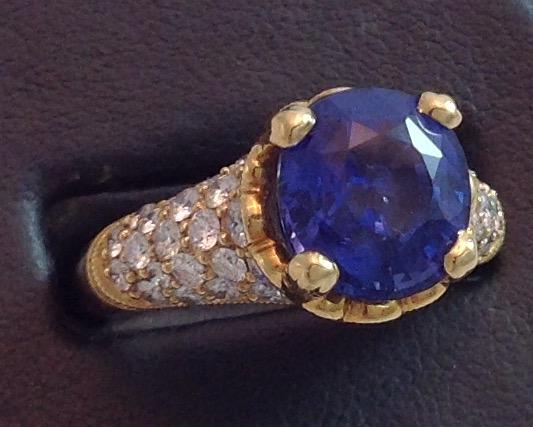 18kt Ceylon Sapphire Ring