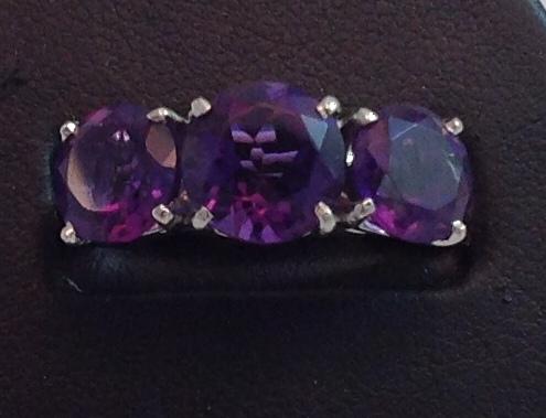 Platinum & Amethyst Ring