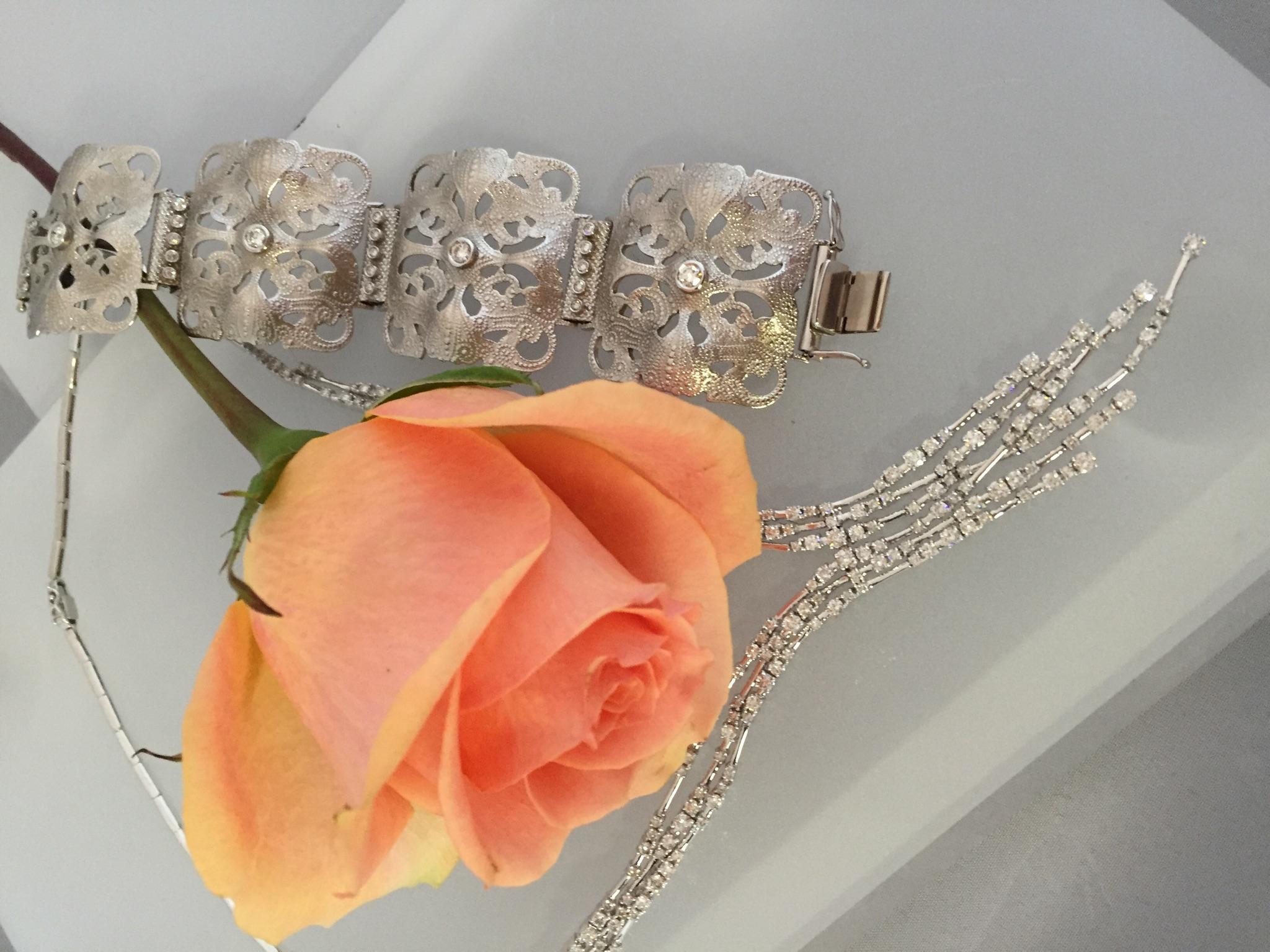 Diamond Necklace and Bracelet