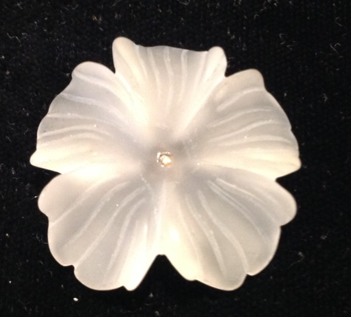 Carved Quartz Flower