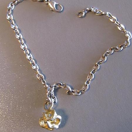 18k yellow gold 'bauble' ankle bracelet