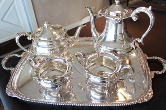 Early 20th century sterling silver tea service. Hand picked from the silver vault in London.