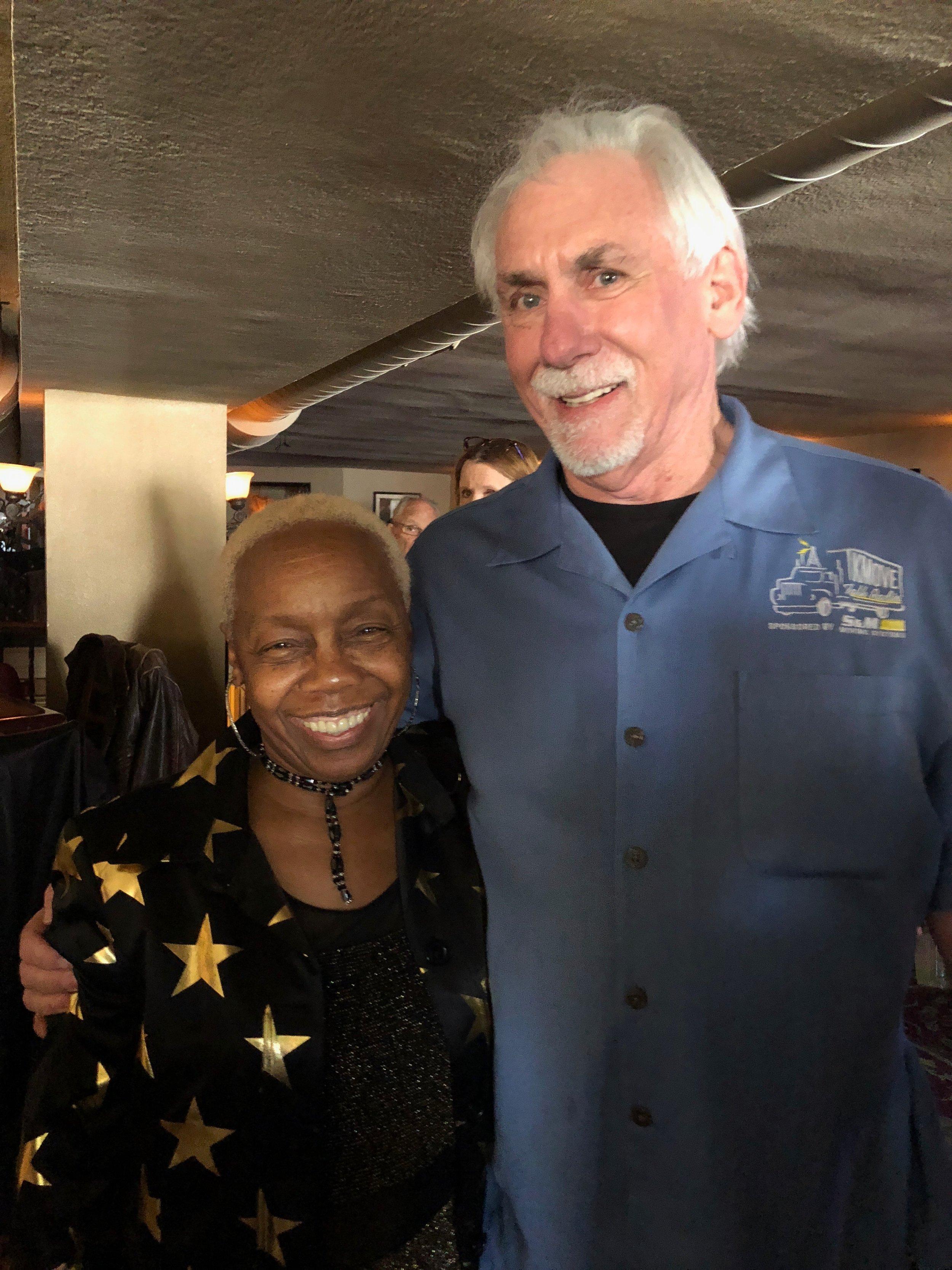 Zakiya Hooker with Clay Goodman of KMOVE Radio