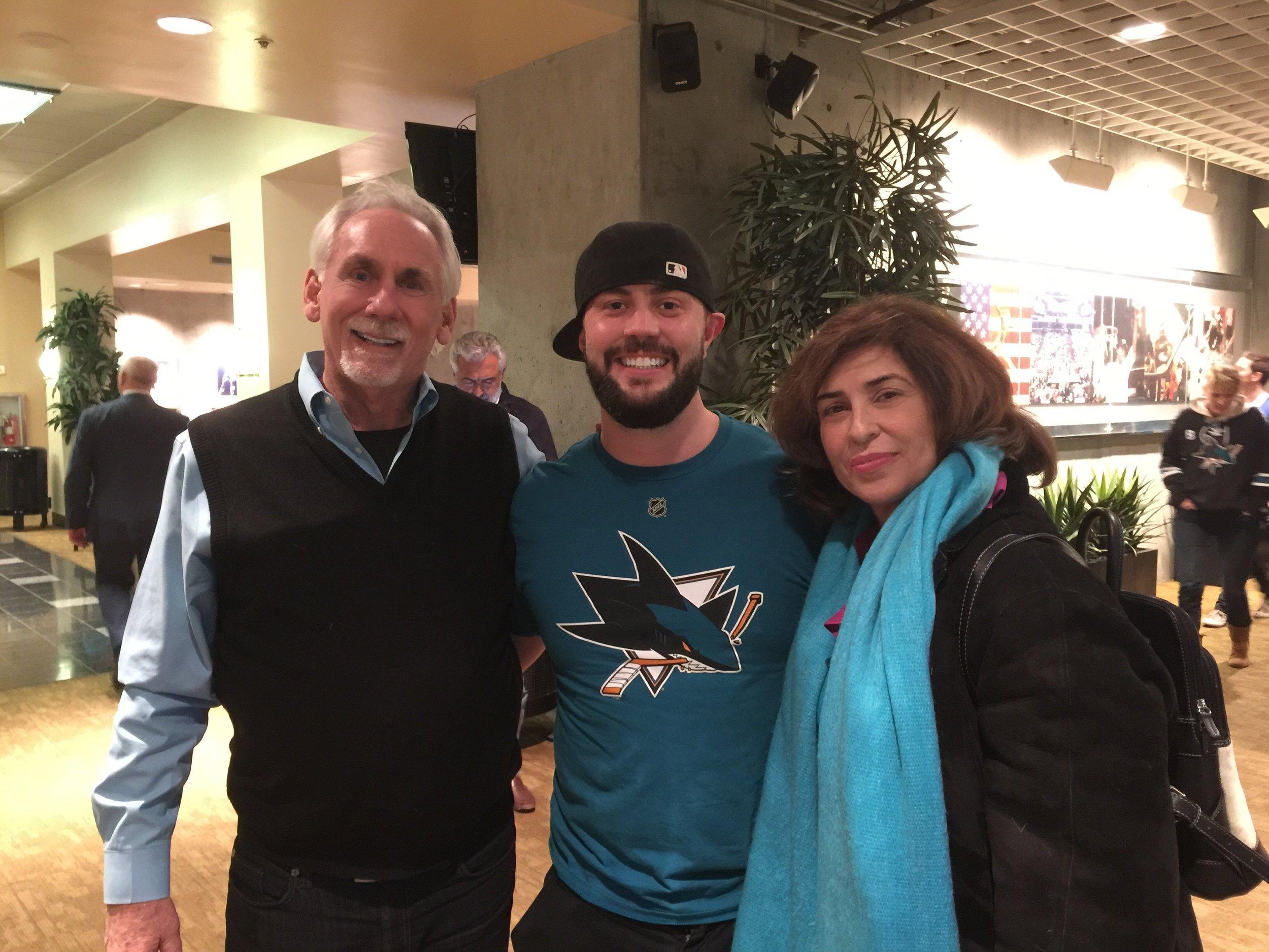 Clay Goodman, KMOVE Radio and wife, Tina with Tim Rainey