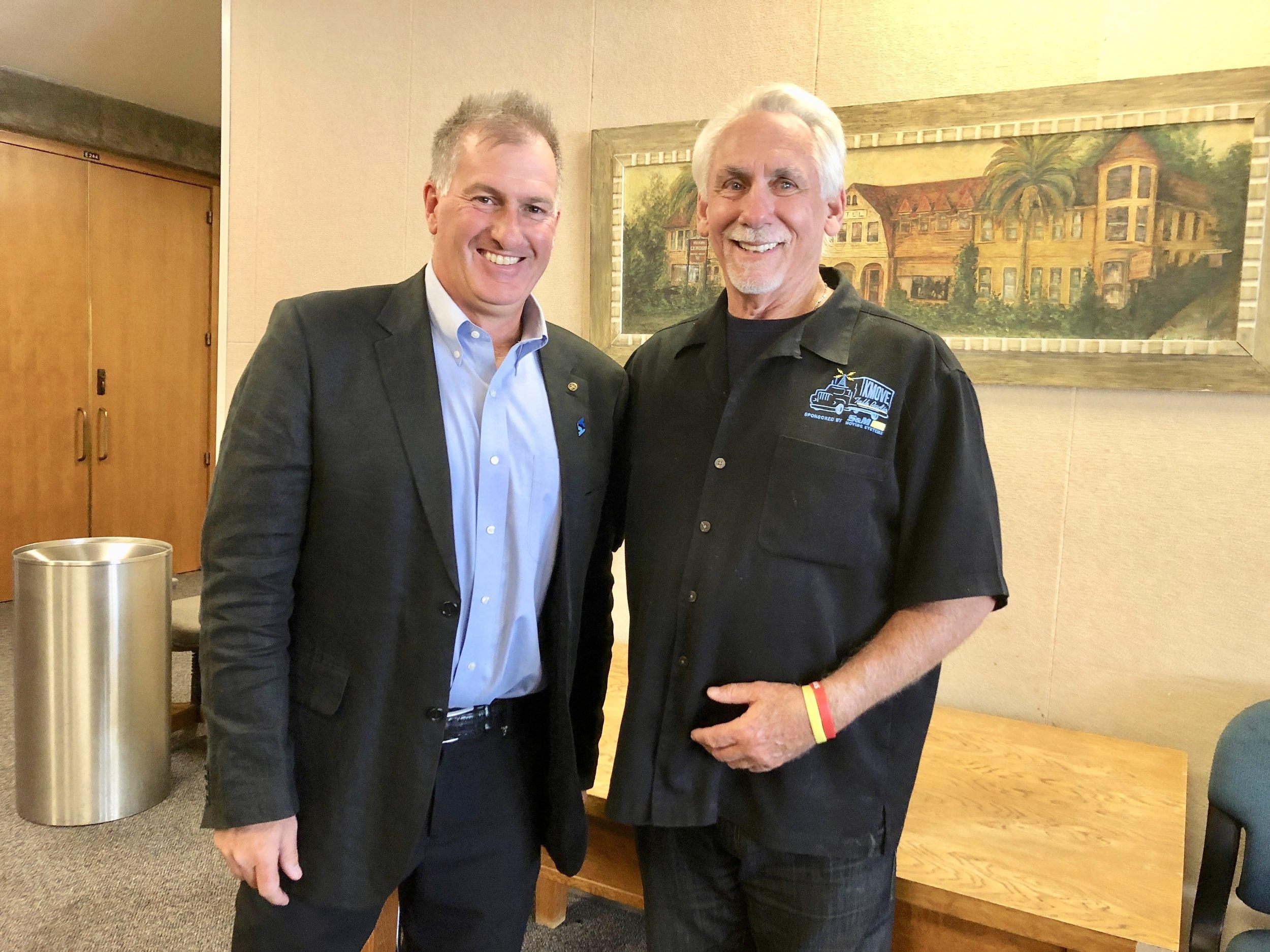 Rob Rennie with Clay Goodman