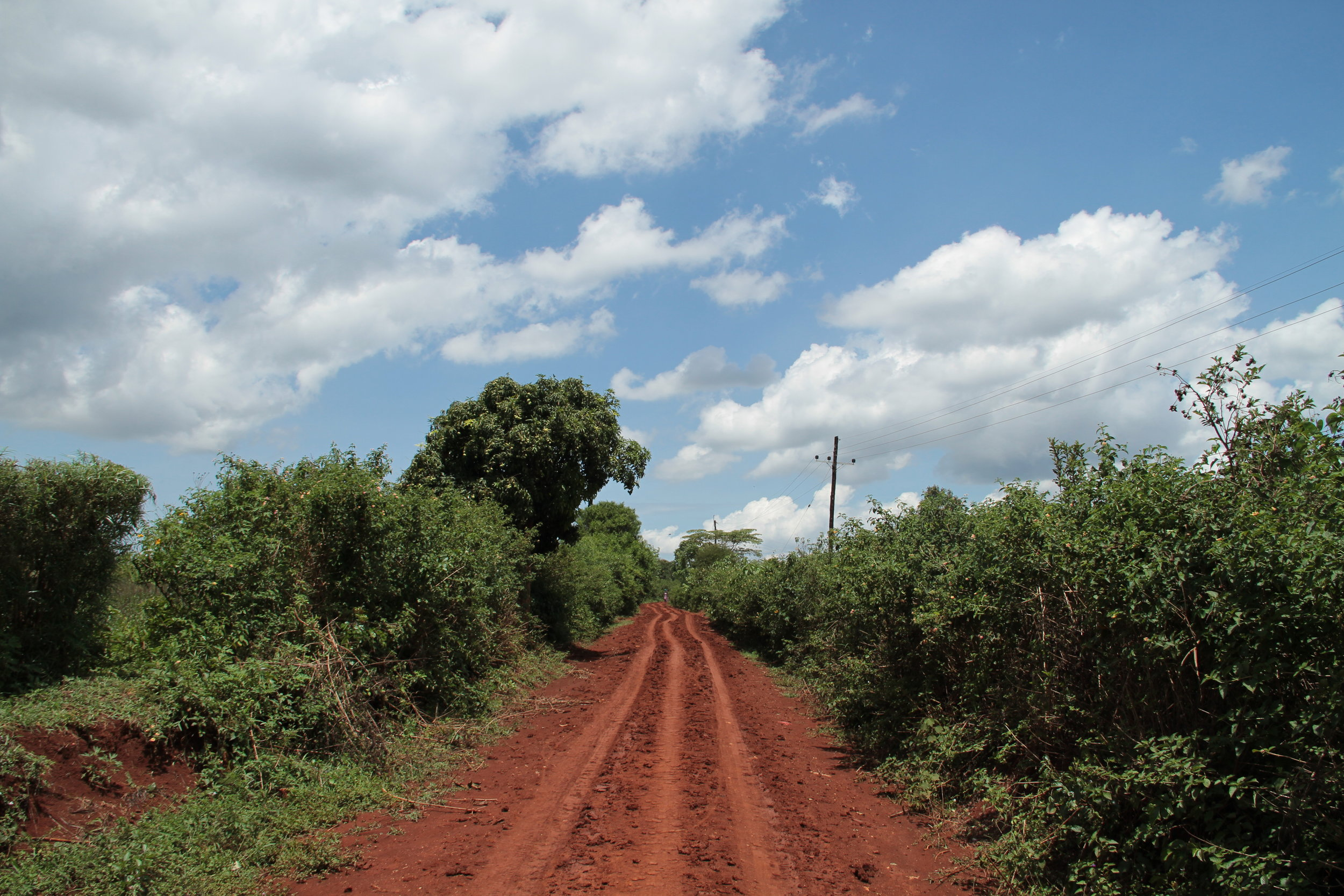 Dirt roads can make transport of goods tough during rain storms