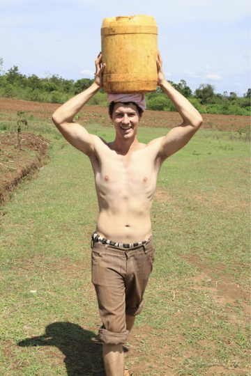 Attempting to carry water like a local