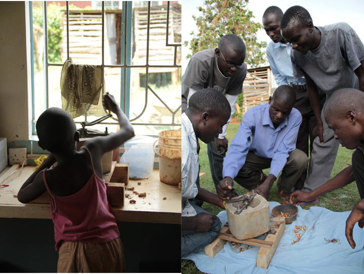 Testing the sheller for usability by children, and sharing with local community members
