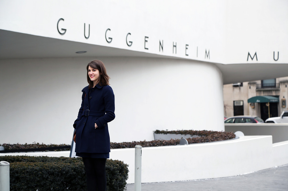 Just a shoot at a little museum called the  Guggenheim with the curatorial assistant to the Italian Futurism exhibit, Natalia Lauricella.