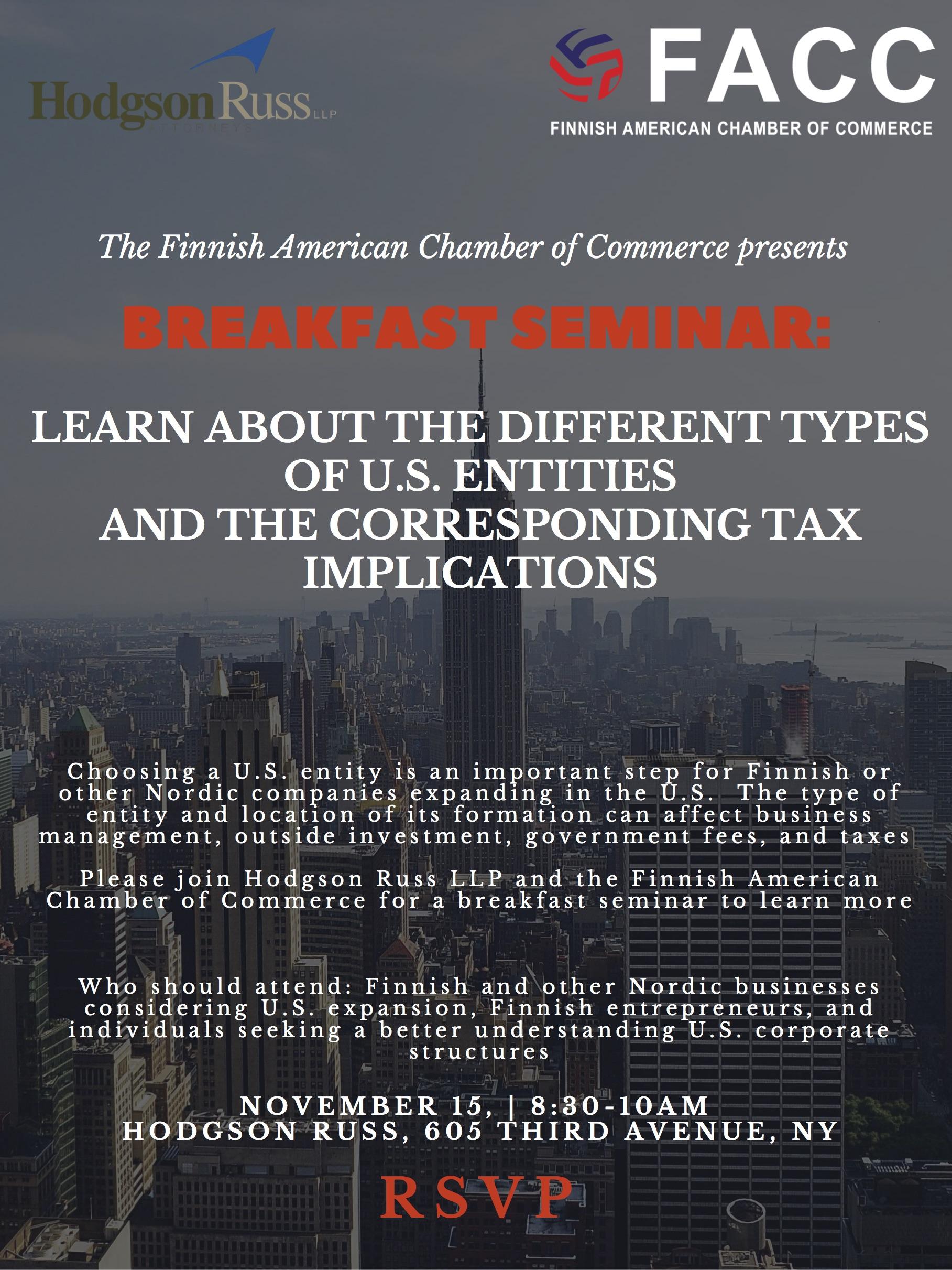 Breakfast Seminar, US entities and corresponding tax implications.jpg