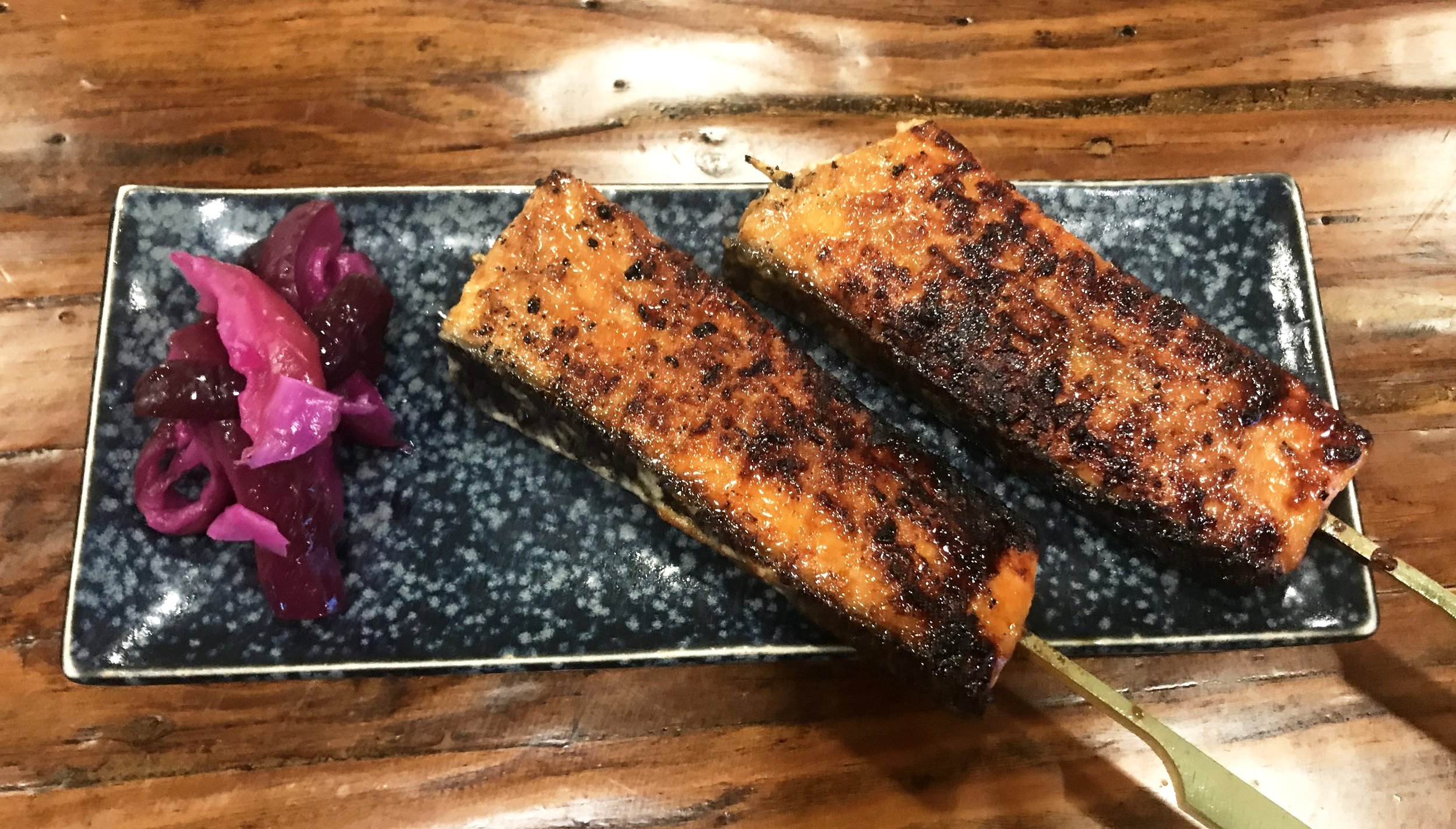 KING SALMON YAKITORI - PRO TIP: FUKUMOTO'S SIGNATURE SKEWER IS ONE OF THE MOST DELICIOUS ITEMS ON THE MENU YOU WILL BE CRAVING FOR WEEKS!