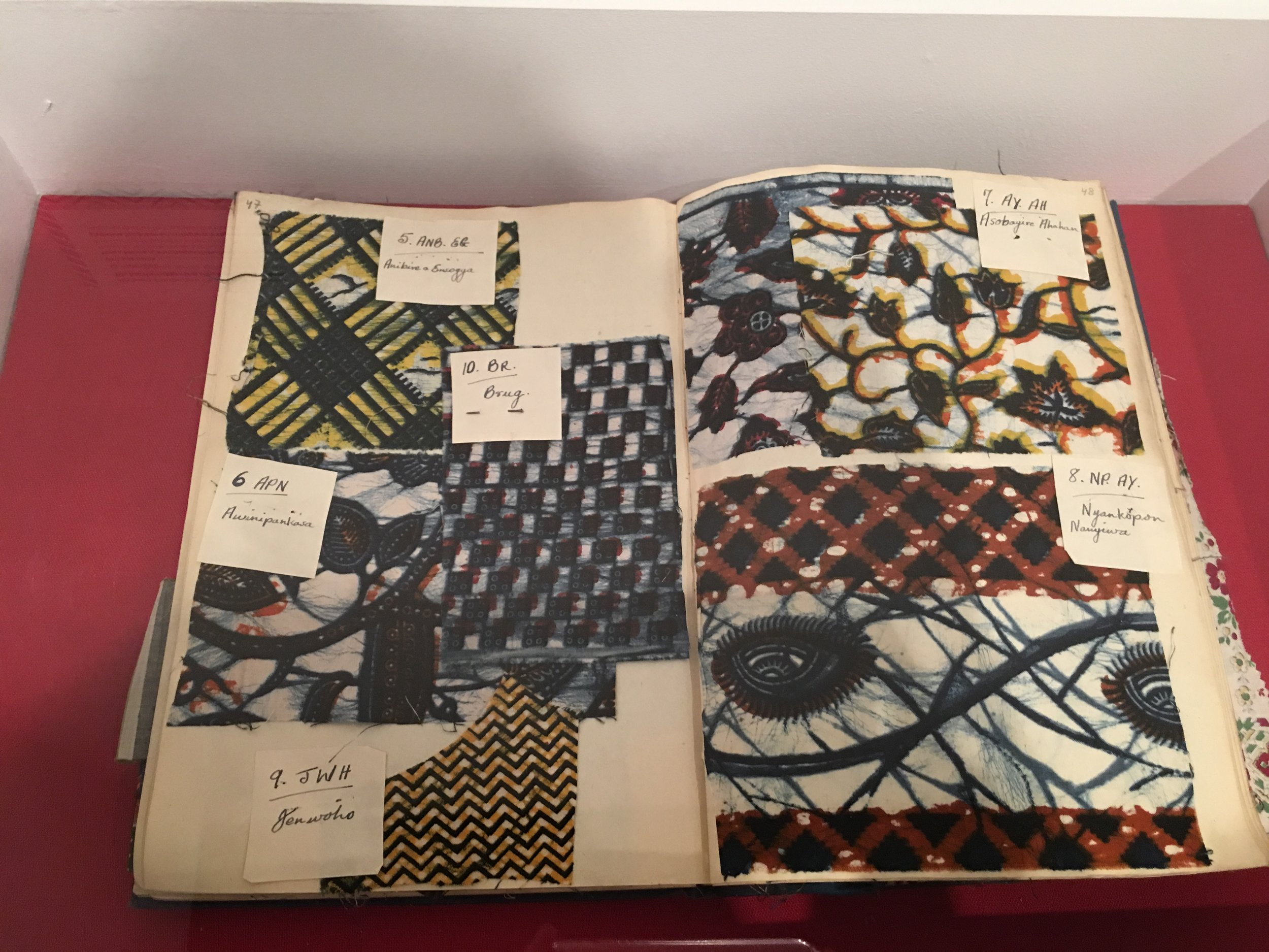 spring finn and co museum visits Richard Brotherton co sample book Designs Suitable for the African Market 1950S Vlisco Museum