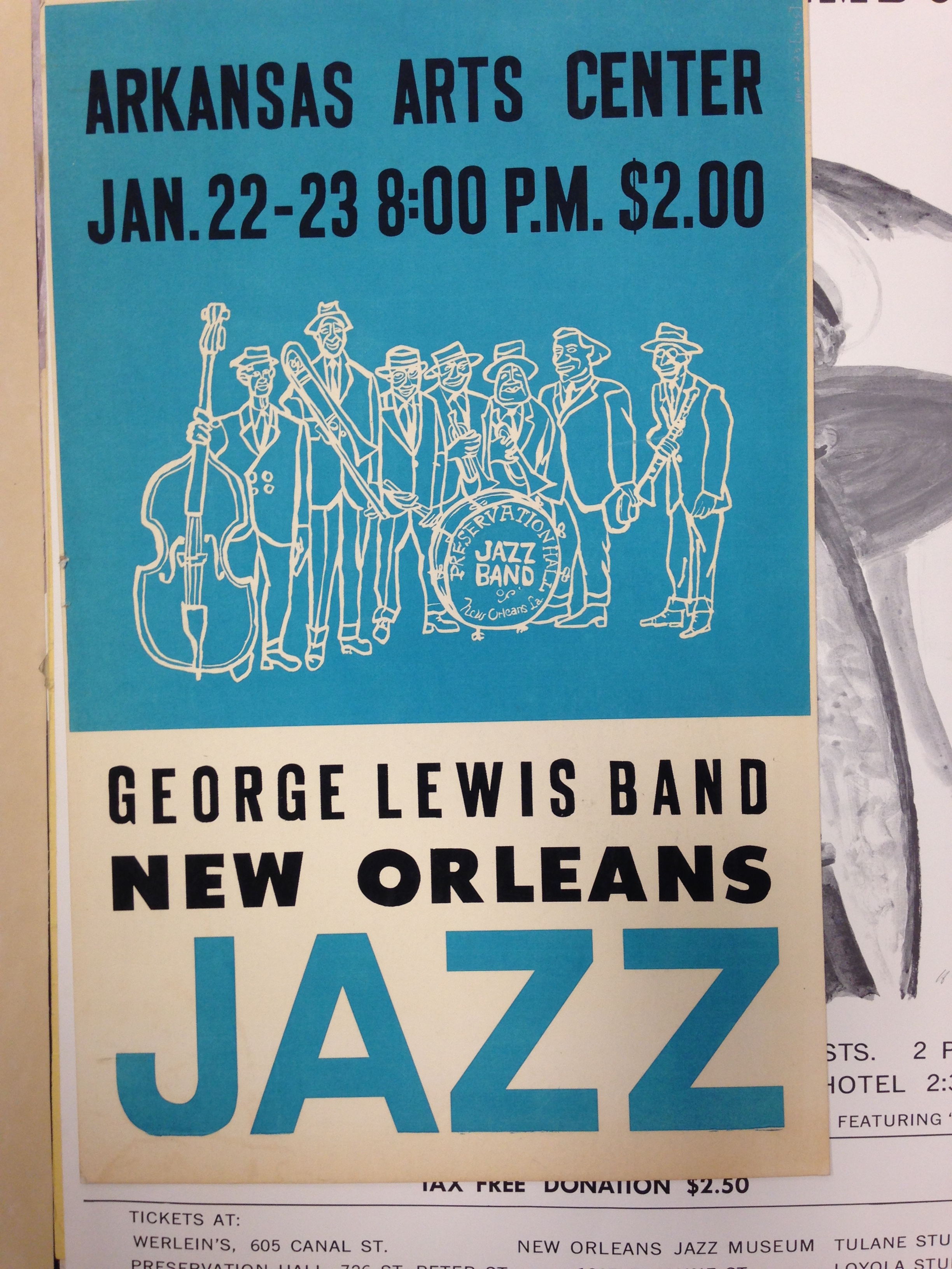 new orleans jazz archives george lewis band poster new orleans jazz arkansas arts center spring finn and co adventures