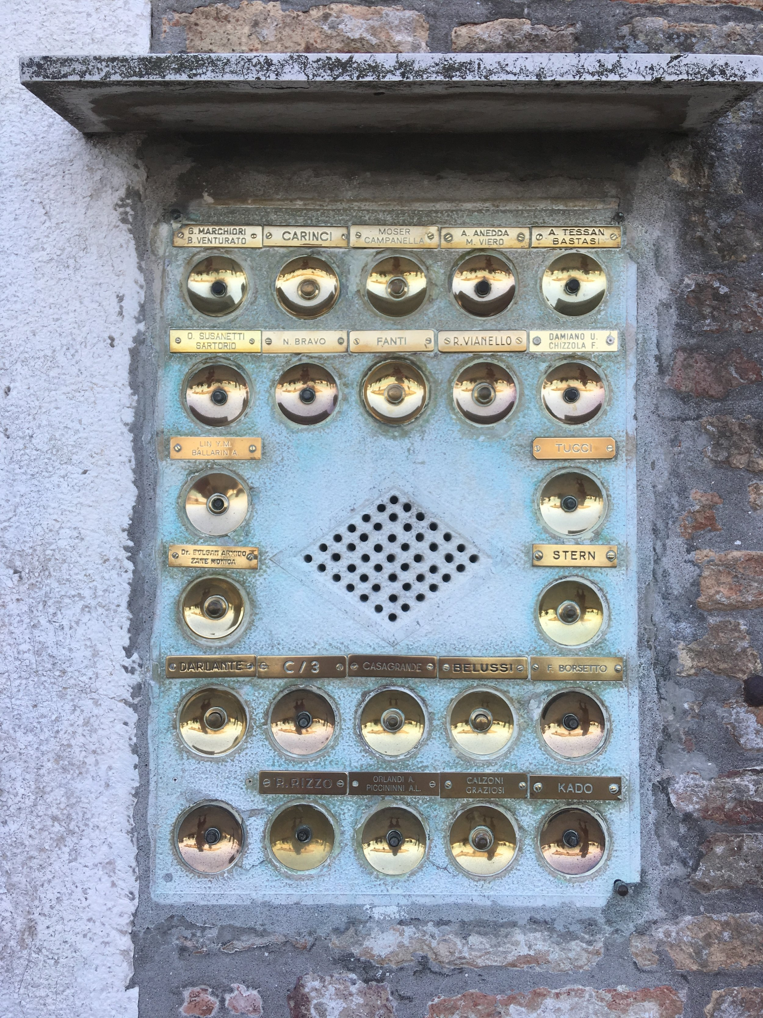 venice, italy, giudecca, travelitaly, best places in italy, doors in italy, doorbells in italy, carlo scarpa